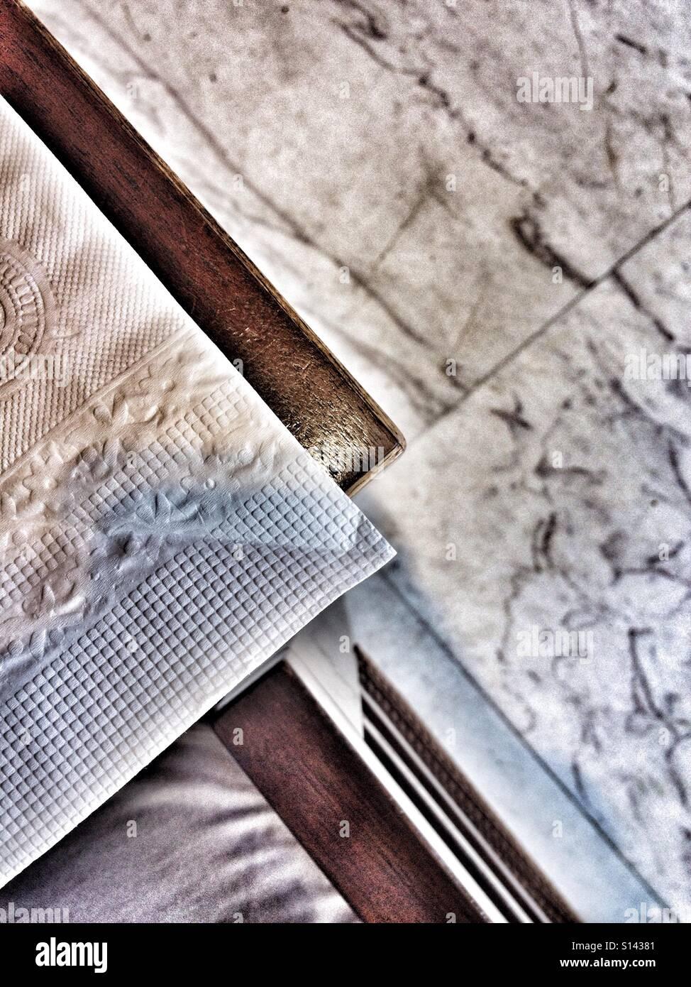 Geometrische Formen Und Ecken Einschliesslich Papier Handtuch Gewebe