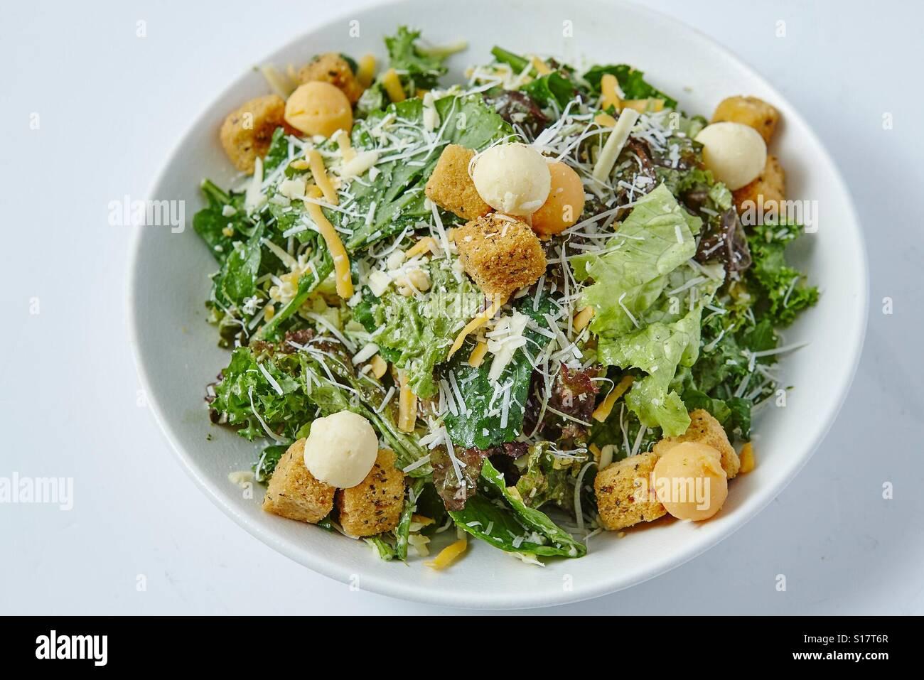 Quattro Formaggi Salat Kase. Stockbild