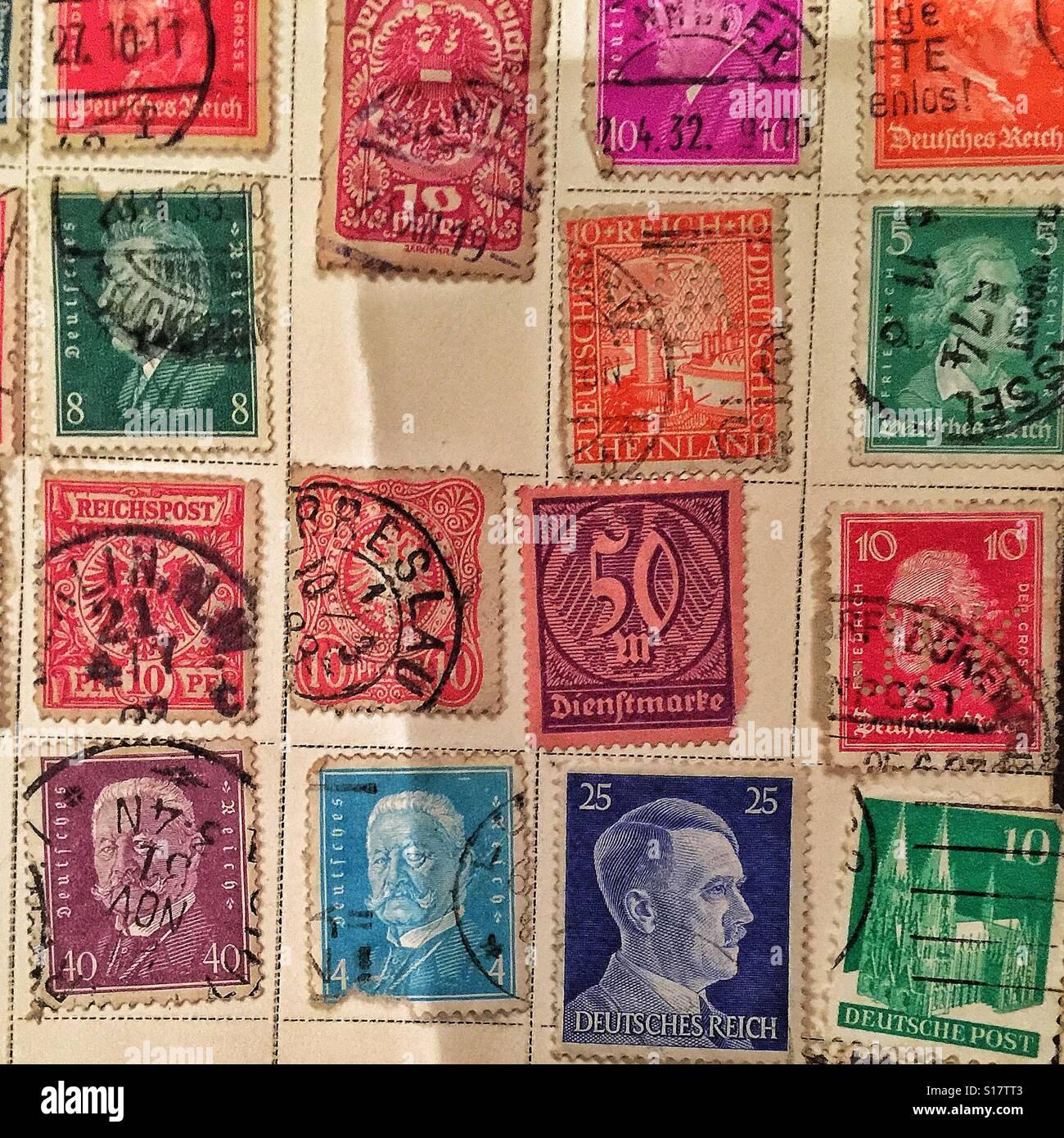 Alte Deutsche Briefmarken Stockfoto Bild 310574435 Alamy