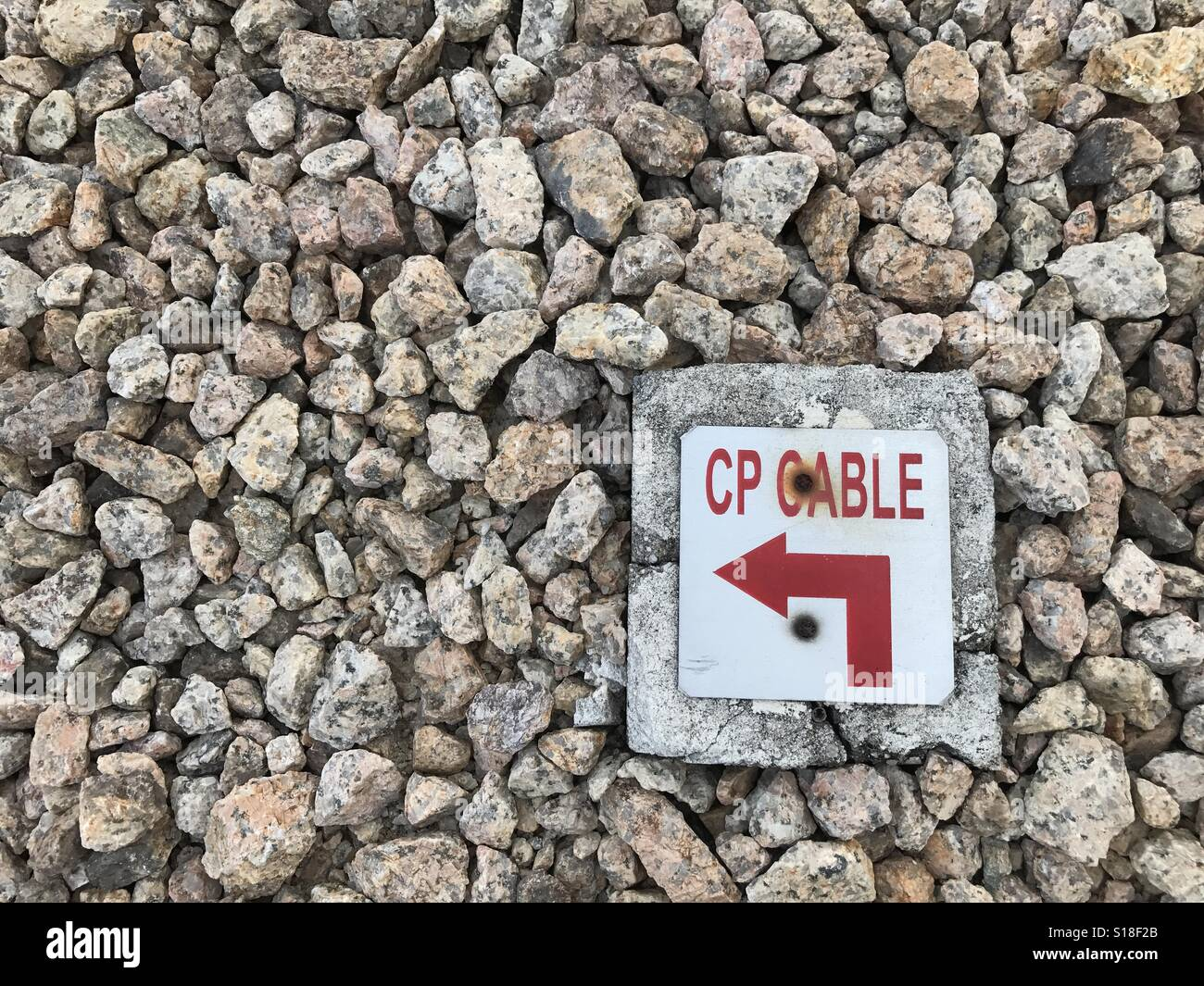 Kabelbezeichnung für Erdkabel Stockfoto, Bild: 310588723 - Alamy