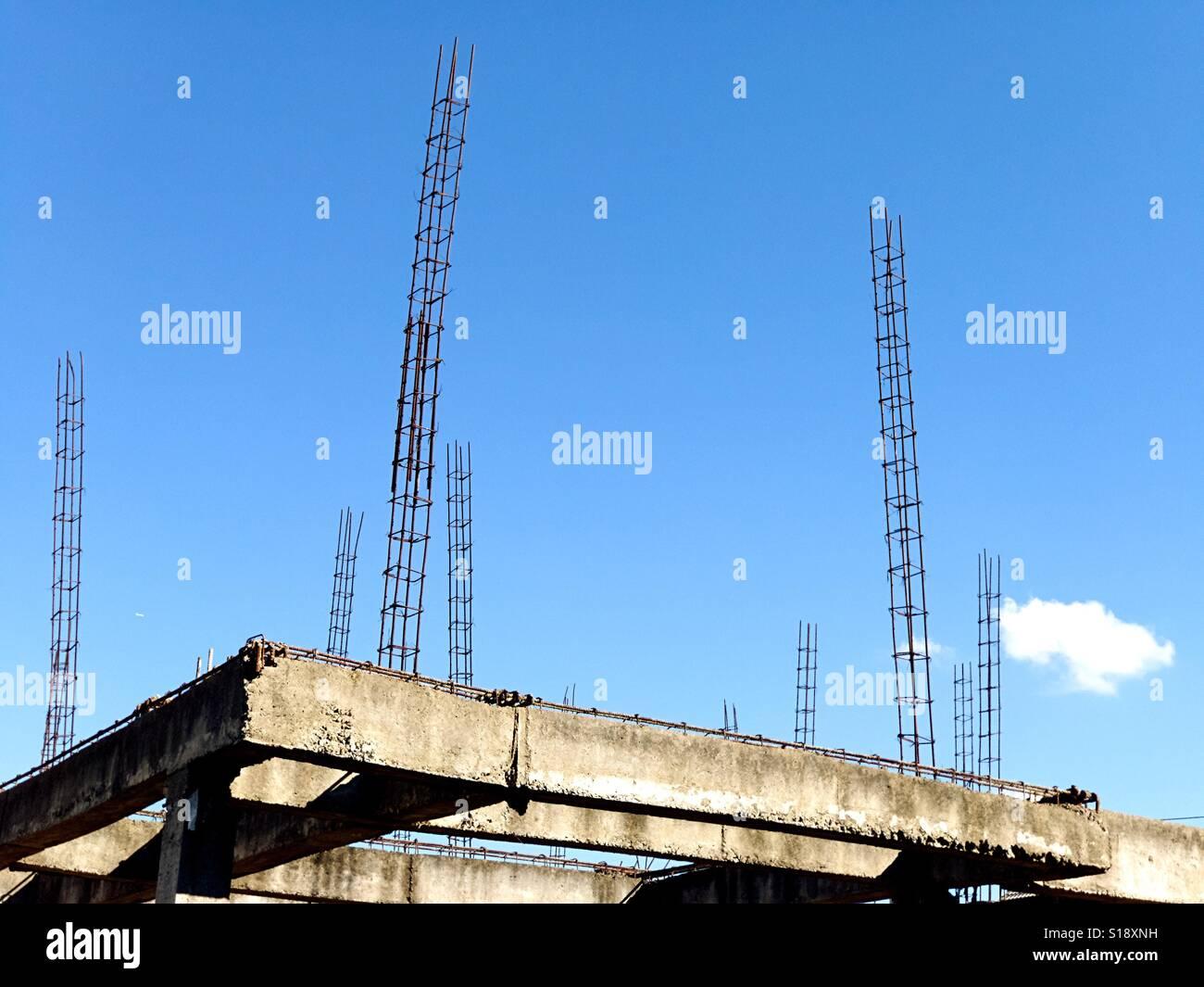 Unvollendet und verlassenen Gebäude. Stockbild