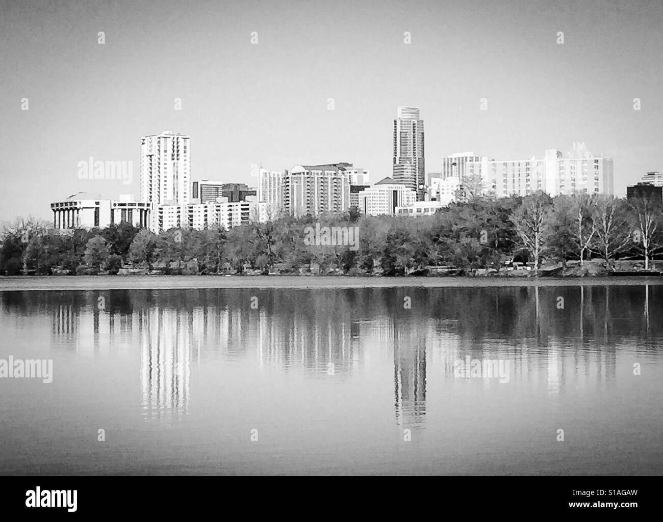 Austin Texas schwarz und weiß
