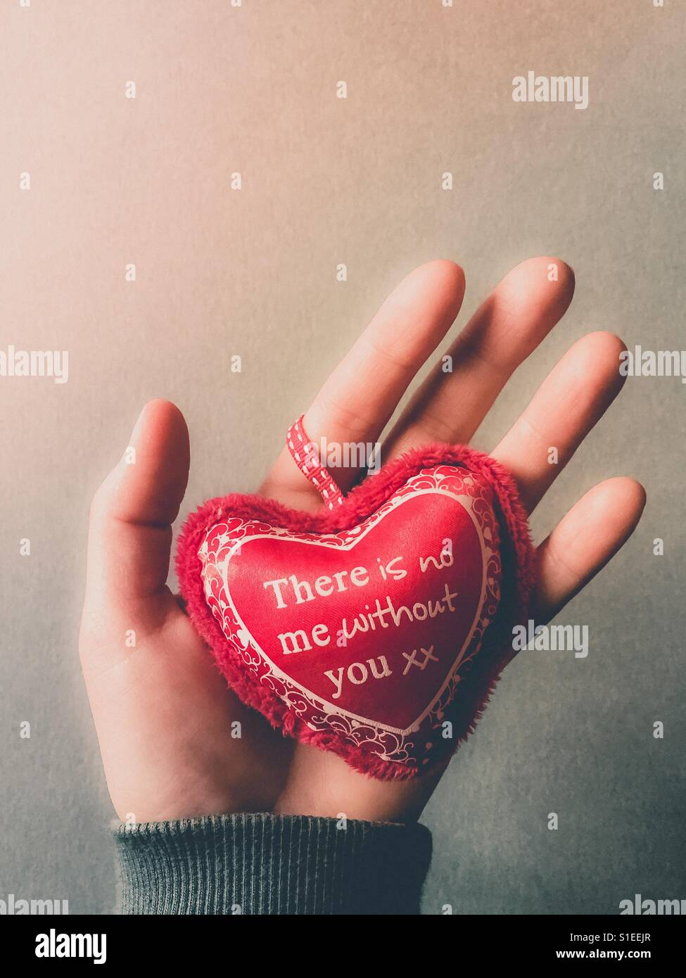 Es gibt kein ich ohne dich, Valentinstag-Konzept Stockbild