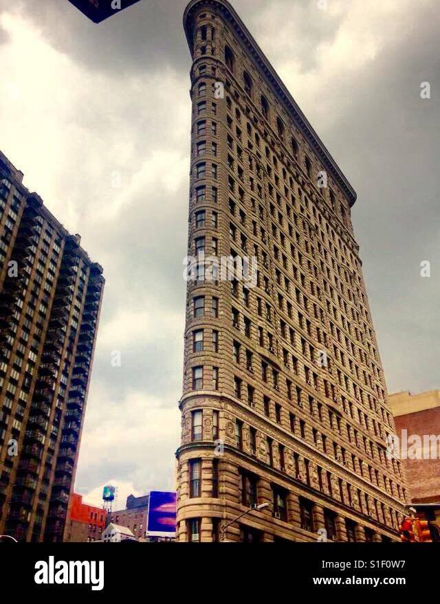 Flat Iron Building, NYC Stockbild