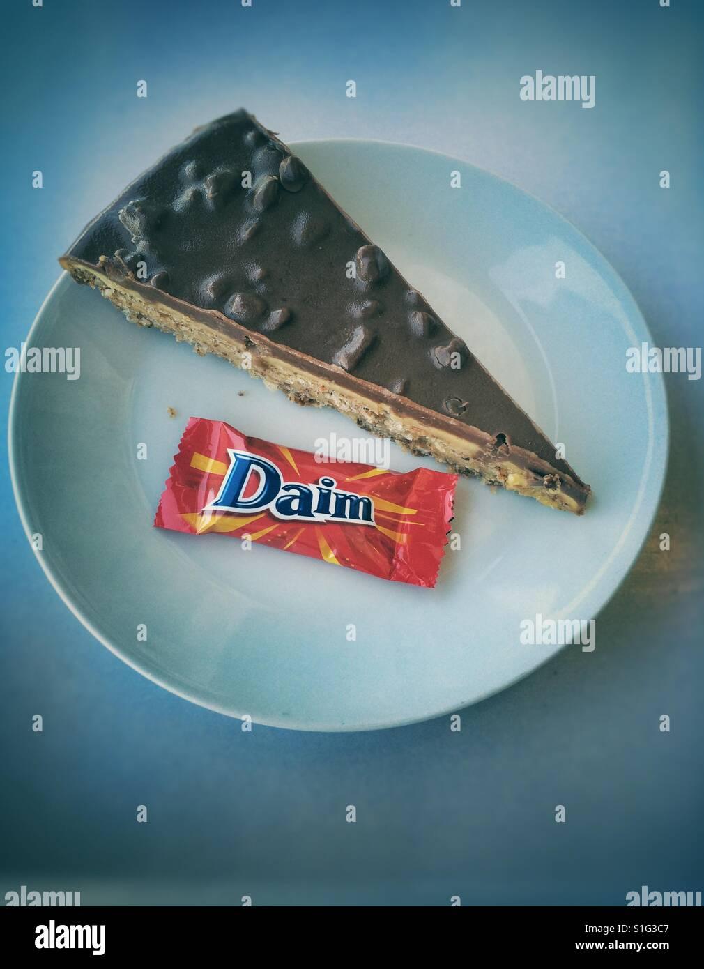 Mittagessen Im Ikea Daim Bar Kuchen Stockfoto Bild 310755207 Alamy