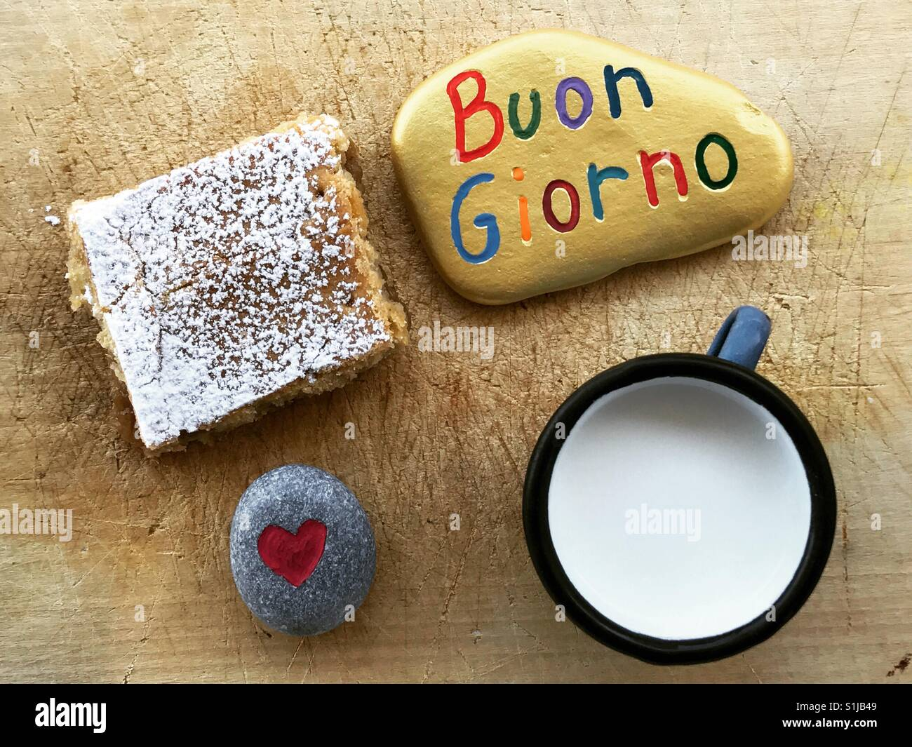 Buongiorno Italienische Guten Morgen Stockfoto Bild