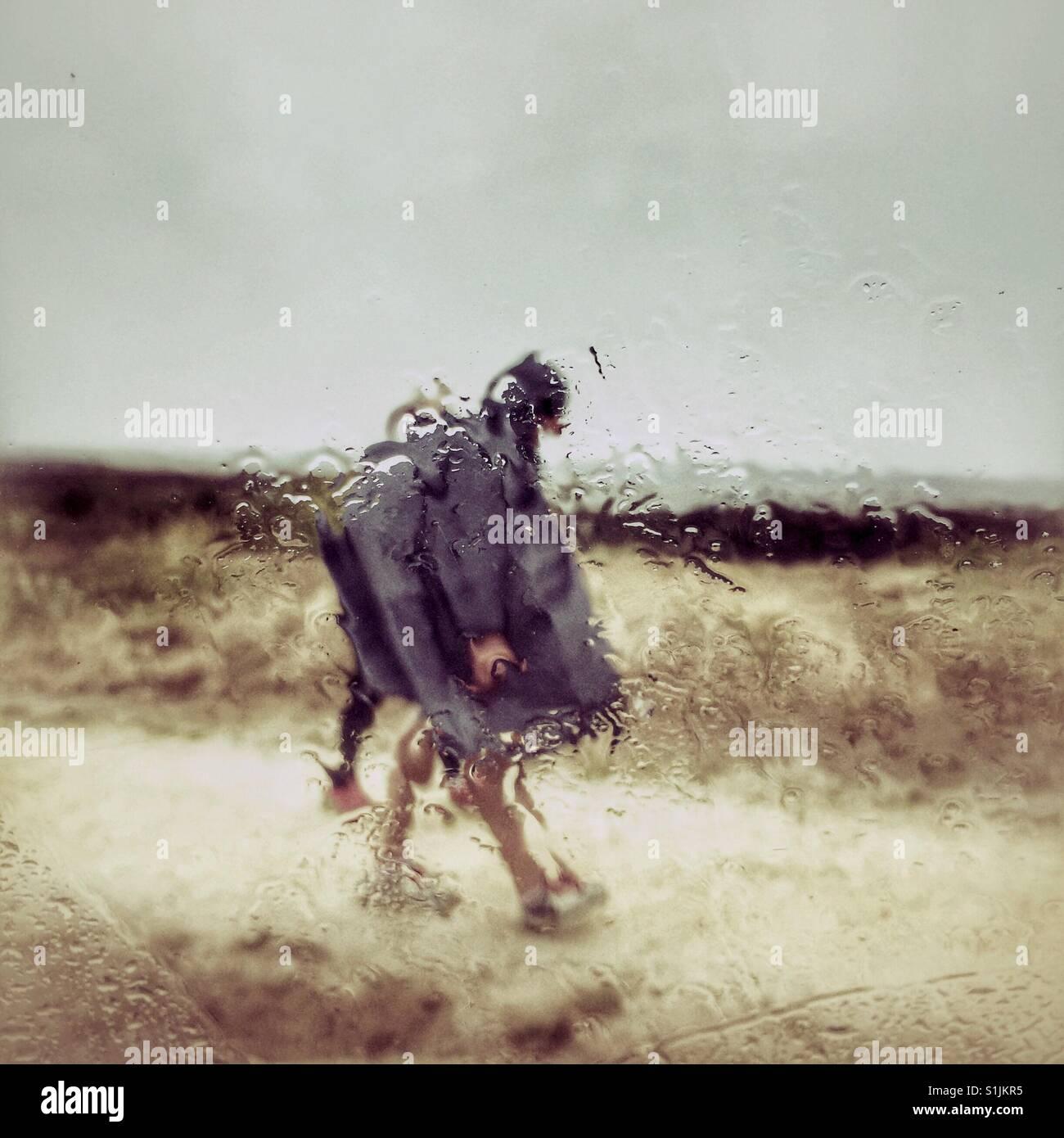 Nasses Wetter imprägniert Stockbild