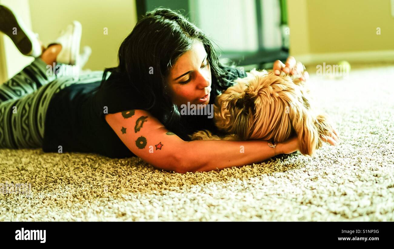 Liebe zu den Tieren Stockbild