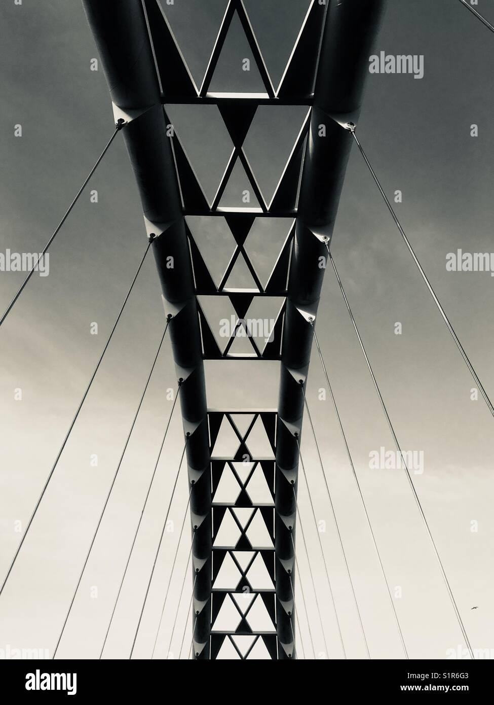 Humber Bay Bogenbrücke, Toronto, Kanada Stockbild
