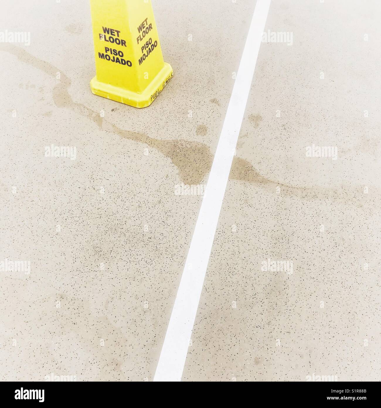 Wet Floor Caution Stockfotos & Wet Floor Caution Bilder