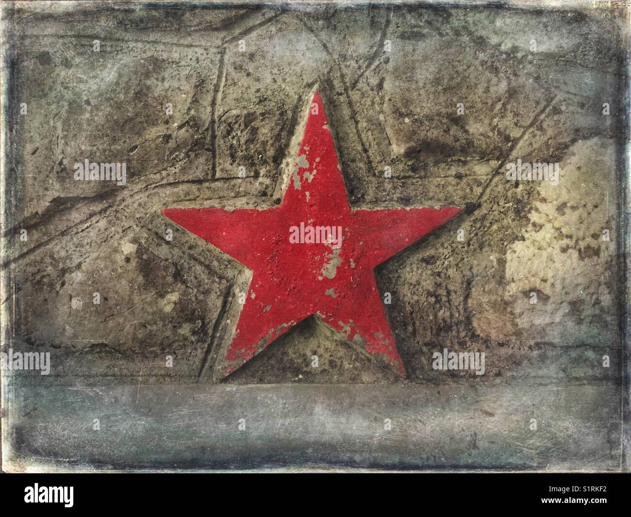 Der fünfzackige Rote Stern Stockfoto