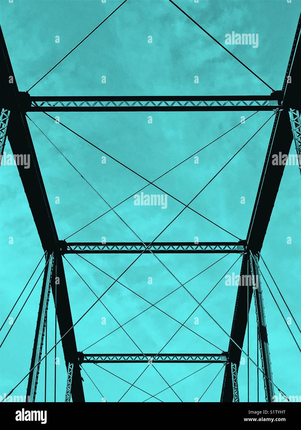 Bridge pattern Folsom California Stockbild