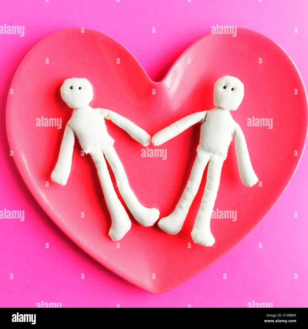 Konzeptionelle Liebesbeziehung. Stockfoto