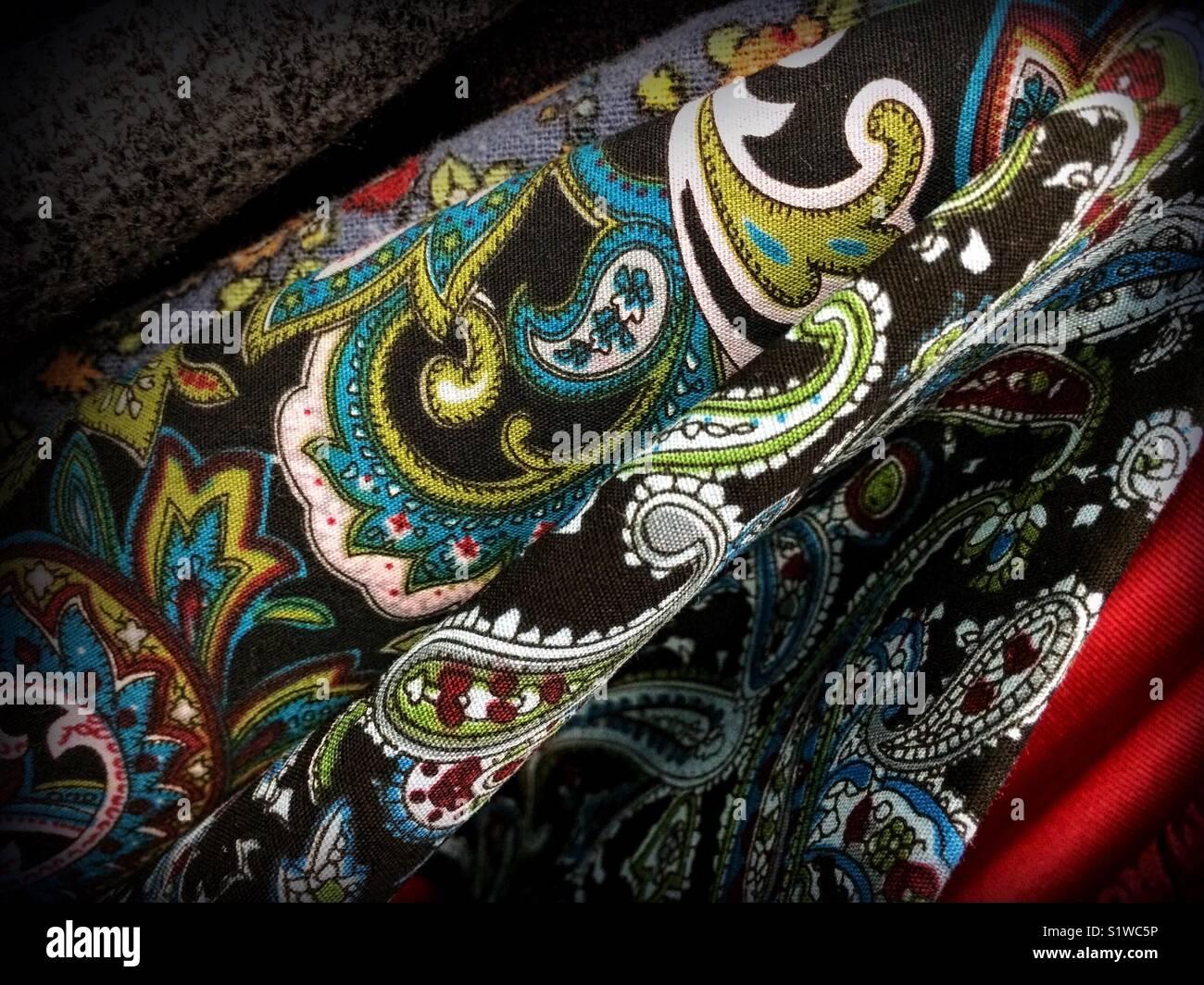 Paisley silk Stockfoto