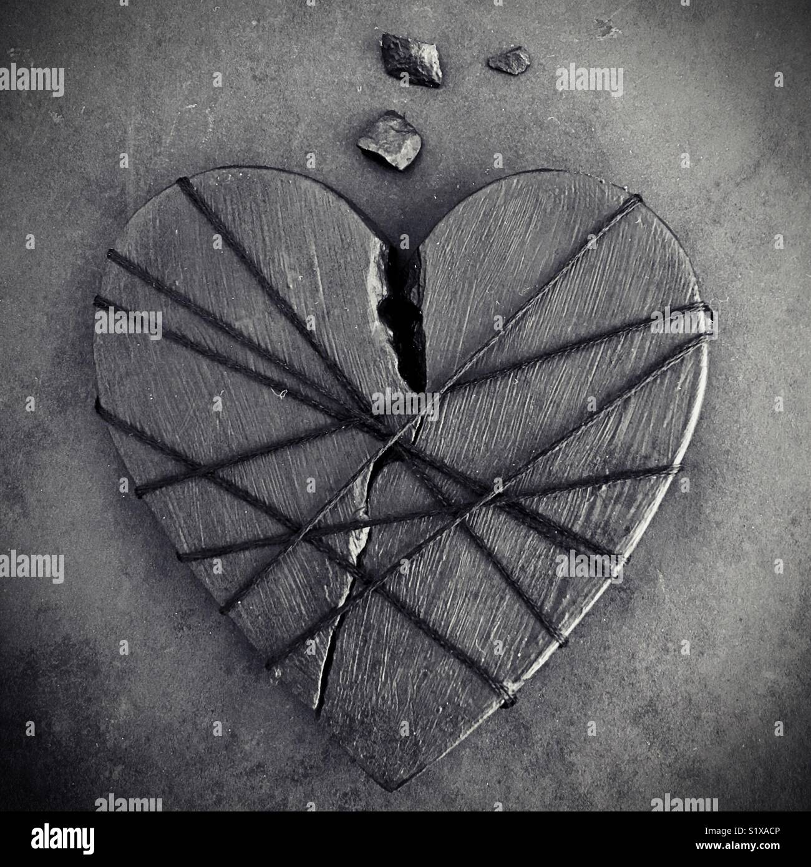 Ein gebrochenes Herz. Stockbild
