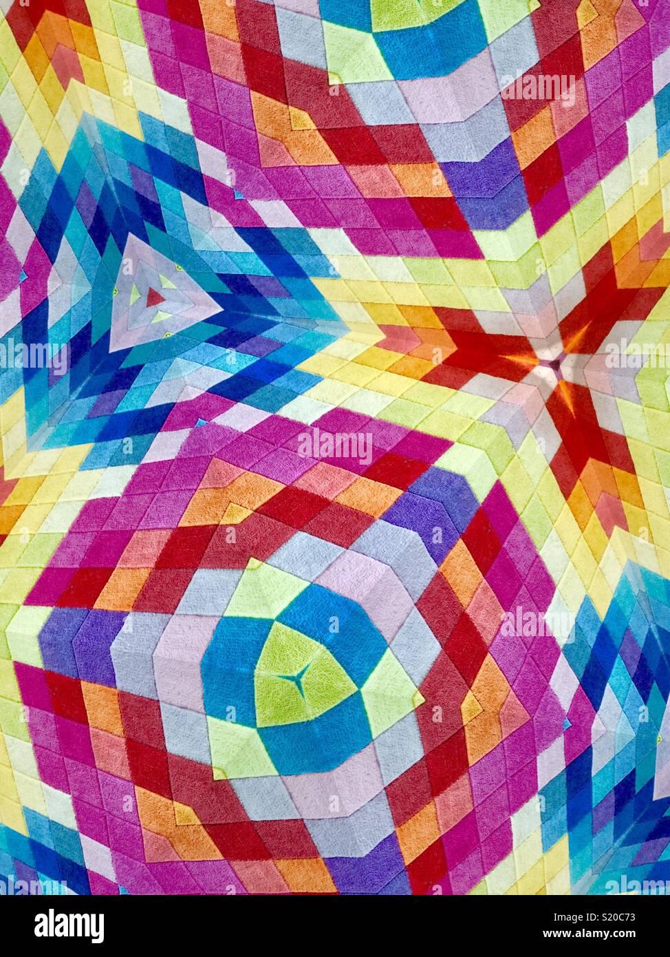 Dreidimensionale Patchwork Stockbild