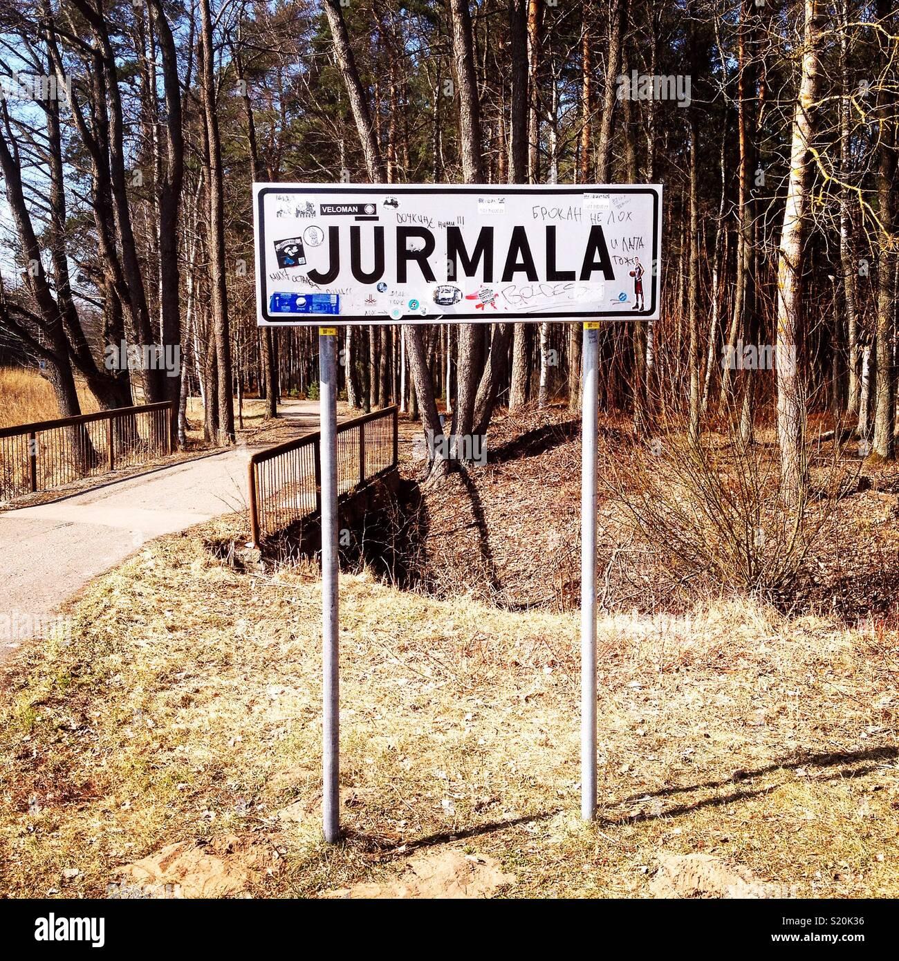 Jurmala, Lettland Stockbild
