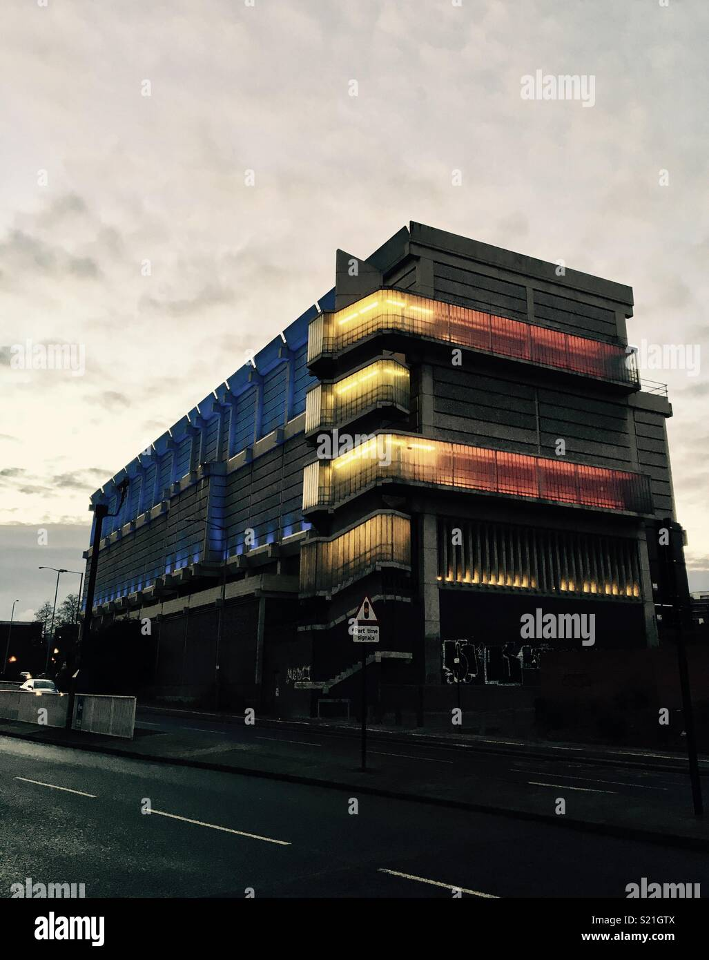 Sheffield Moore Street Unterstation Stockbild