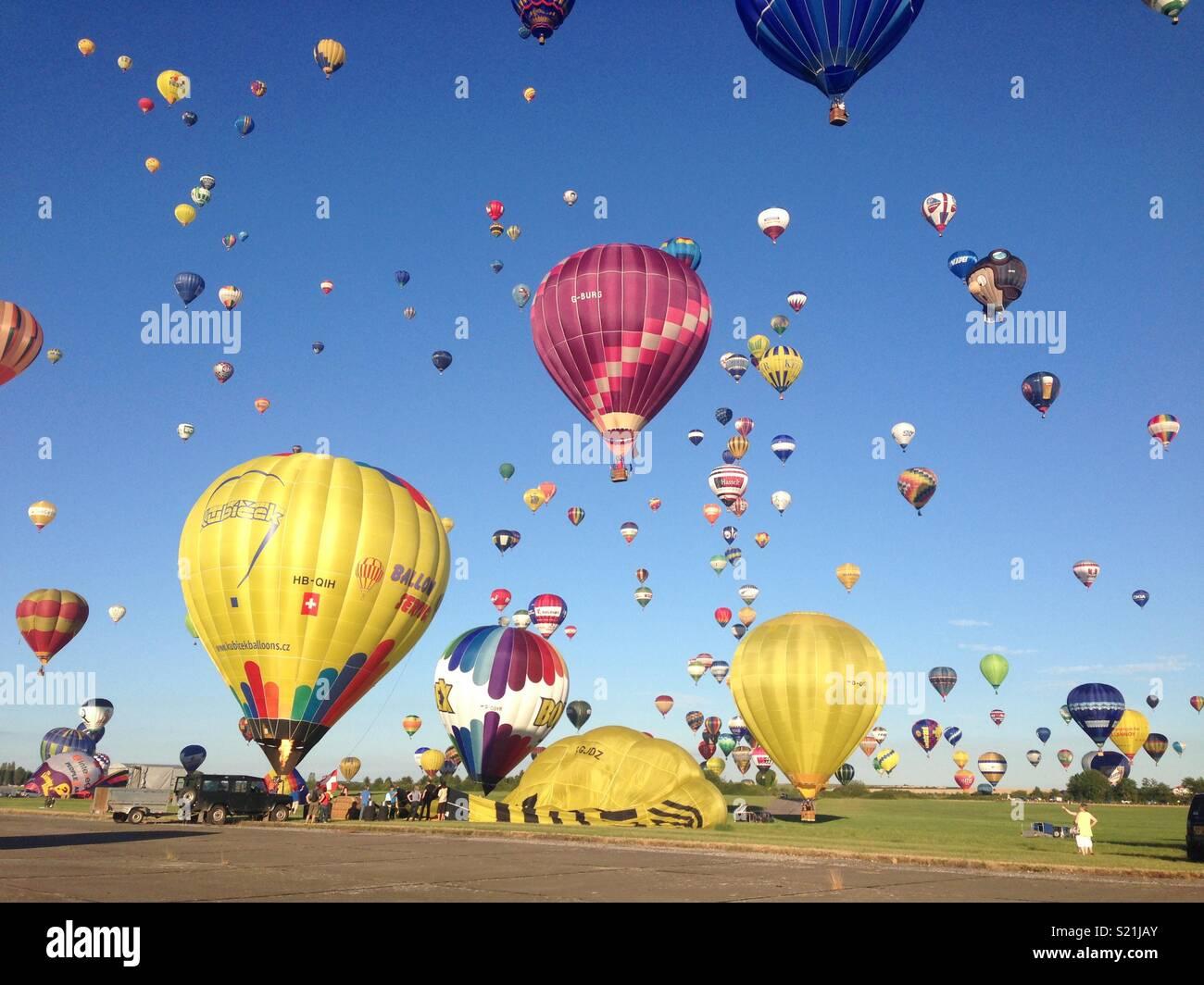Ballone starten Stockbild