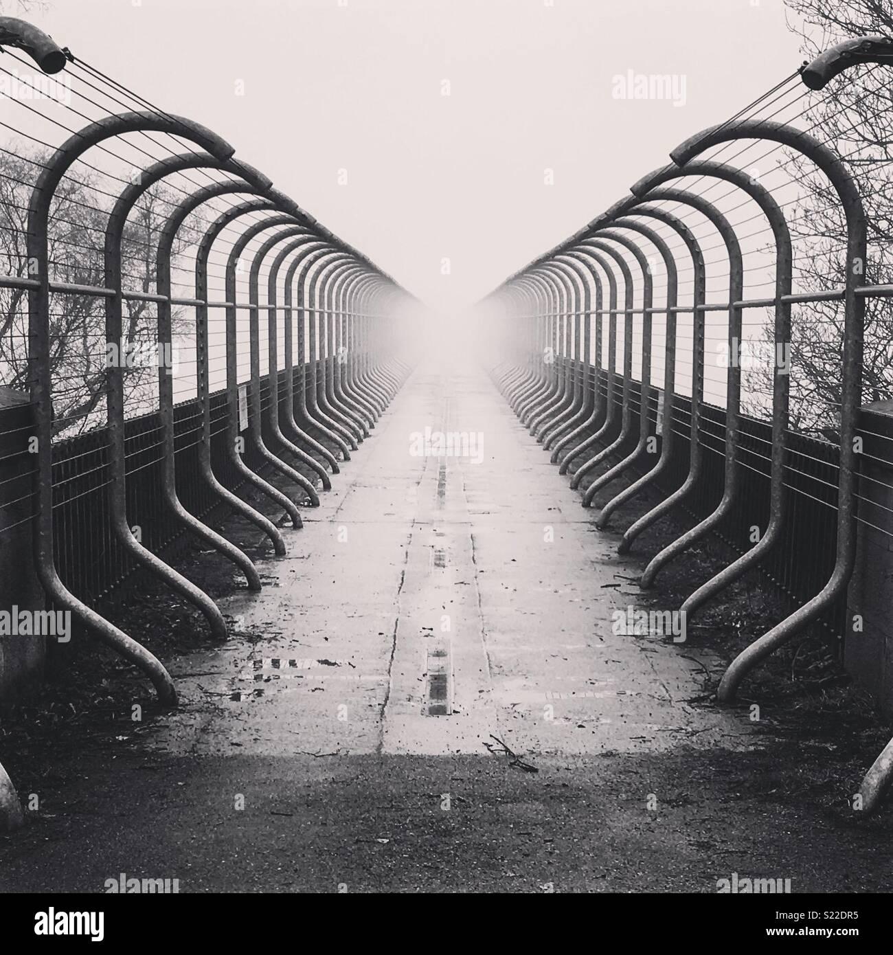 Brücke in consett an einem Morgen Stockbild