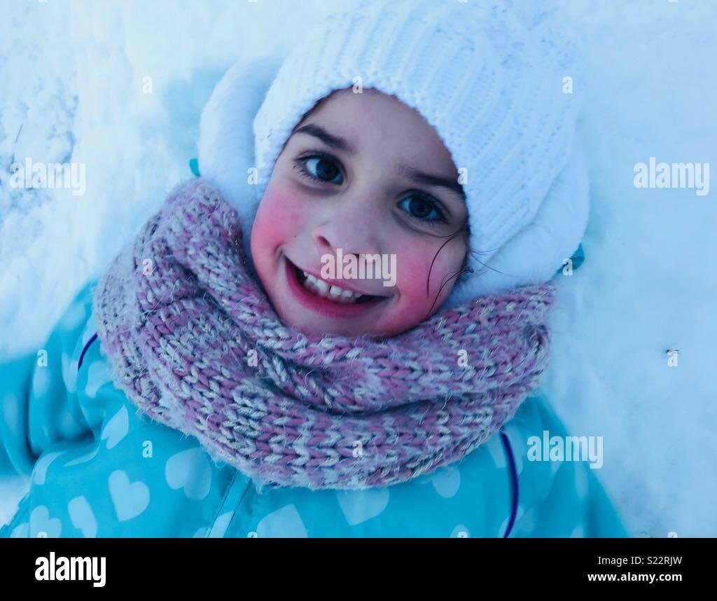Spaß im Schnee Stockbild