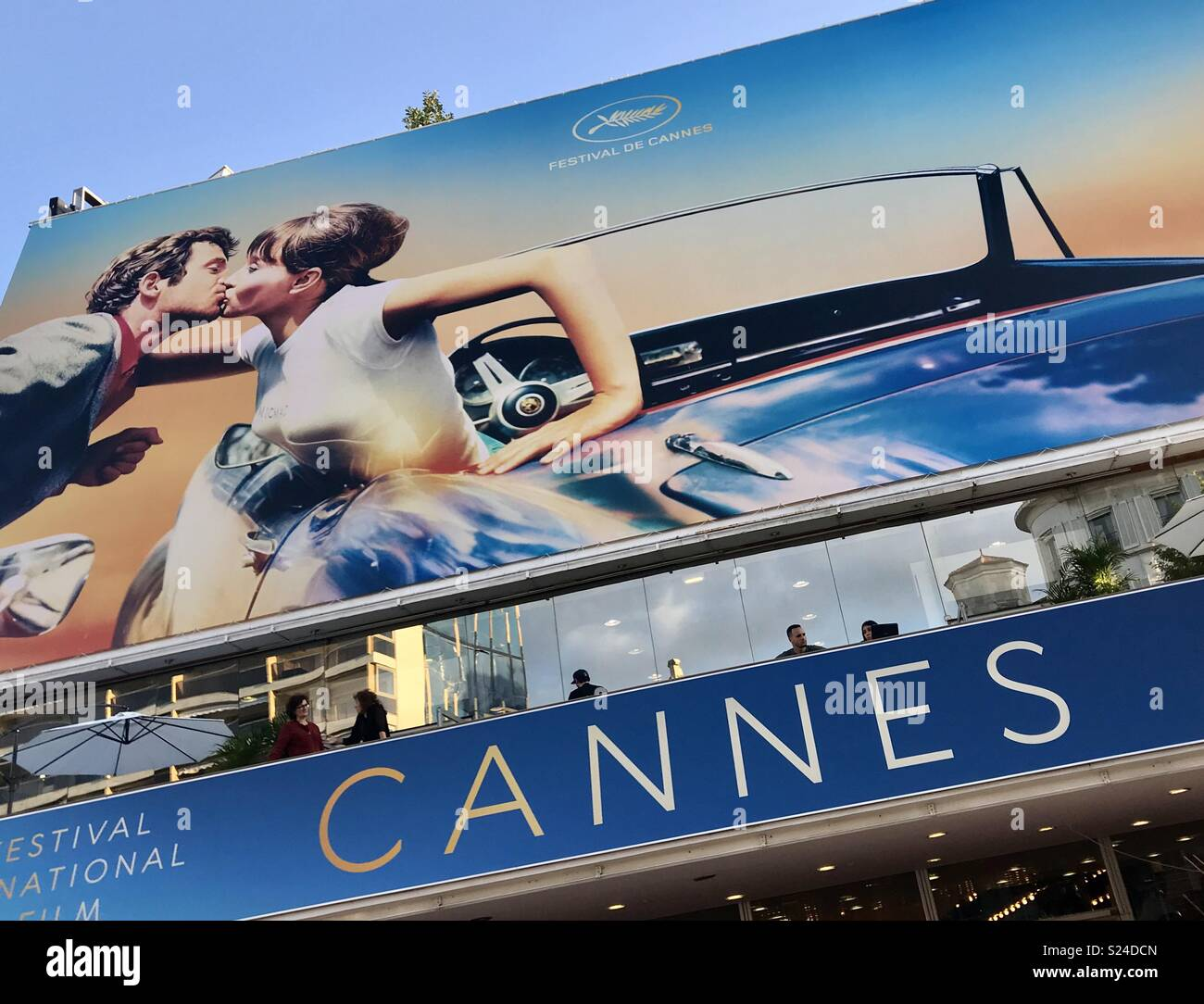 Main Billboard beim Filmfestival in Cannes. Stockfoto