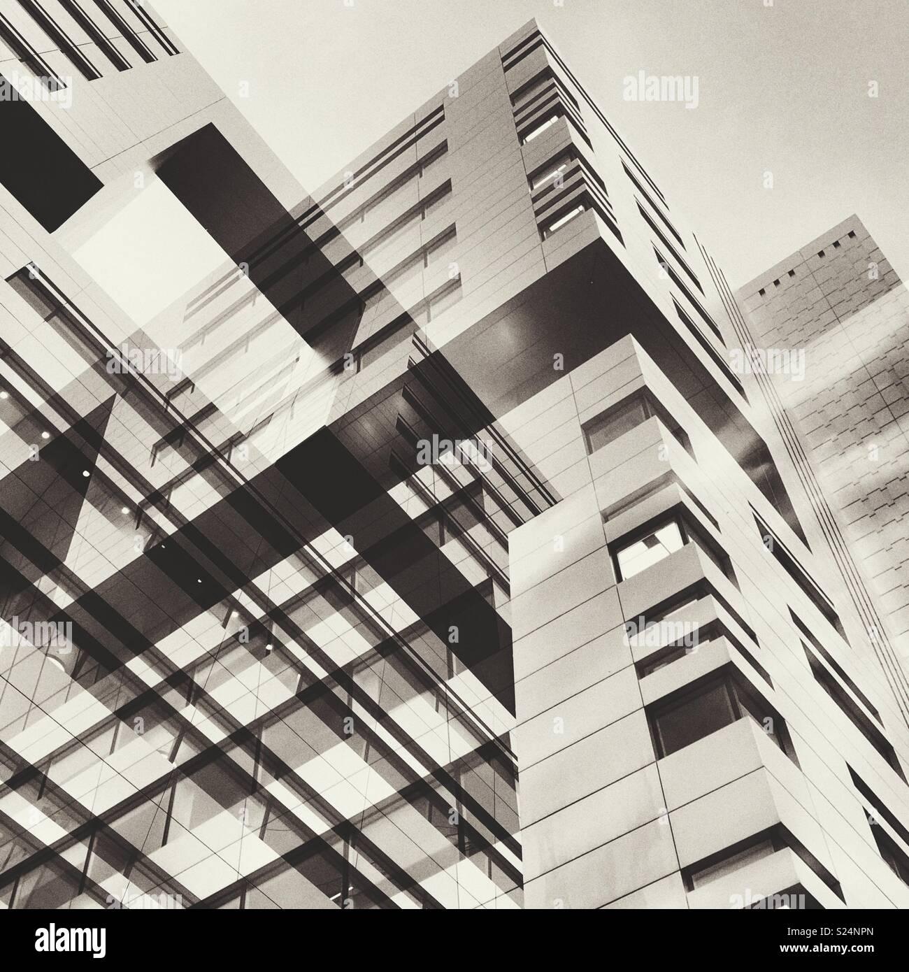 Zusammenfassung der städtischen Gebäude Stockbild