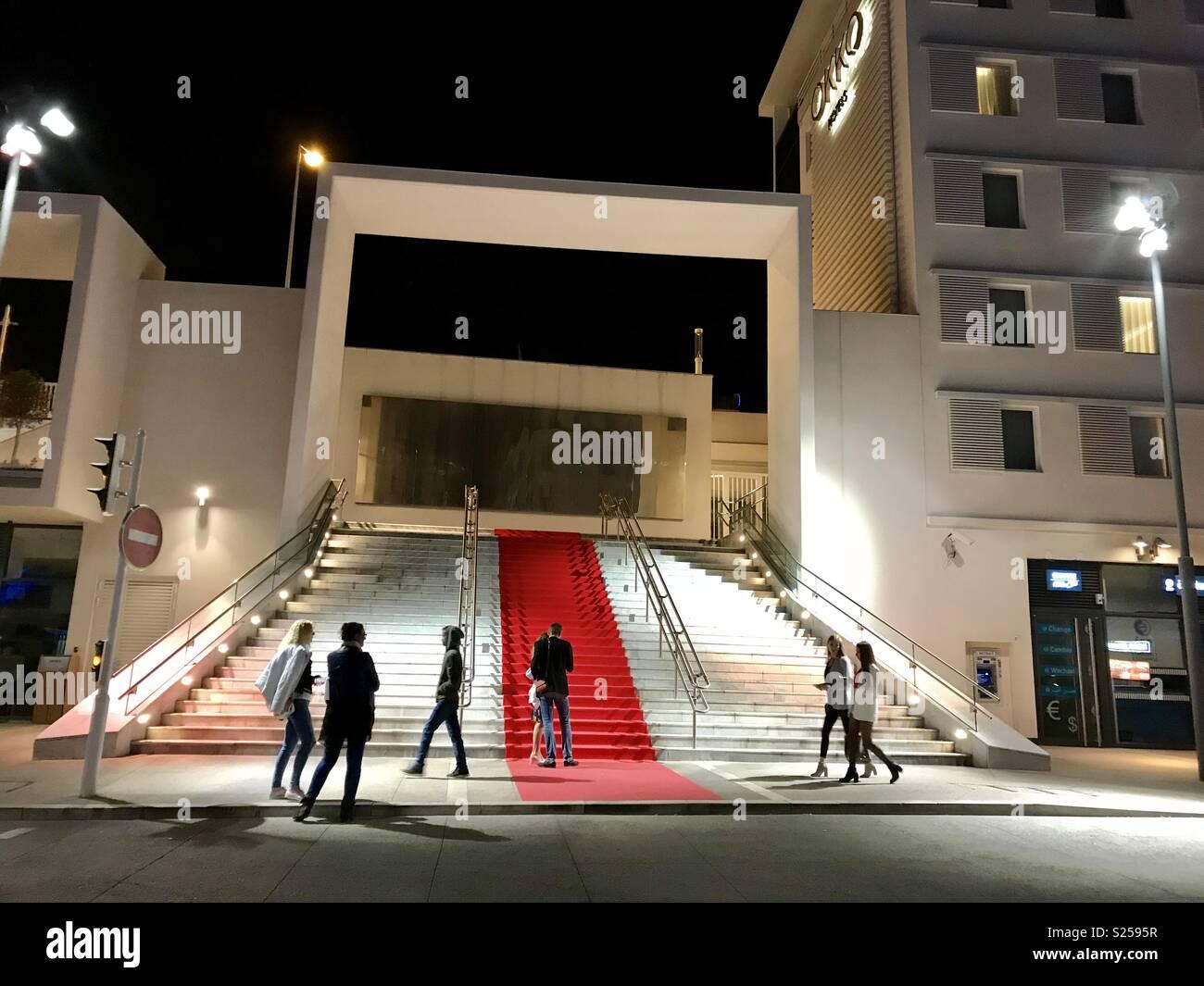 Red Carpet mania im Süden Frankreichs Stockfoto