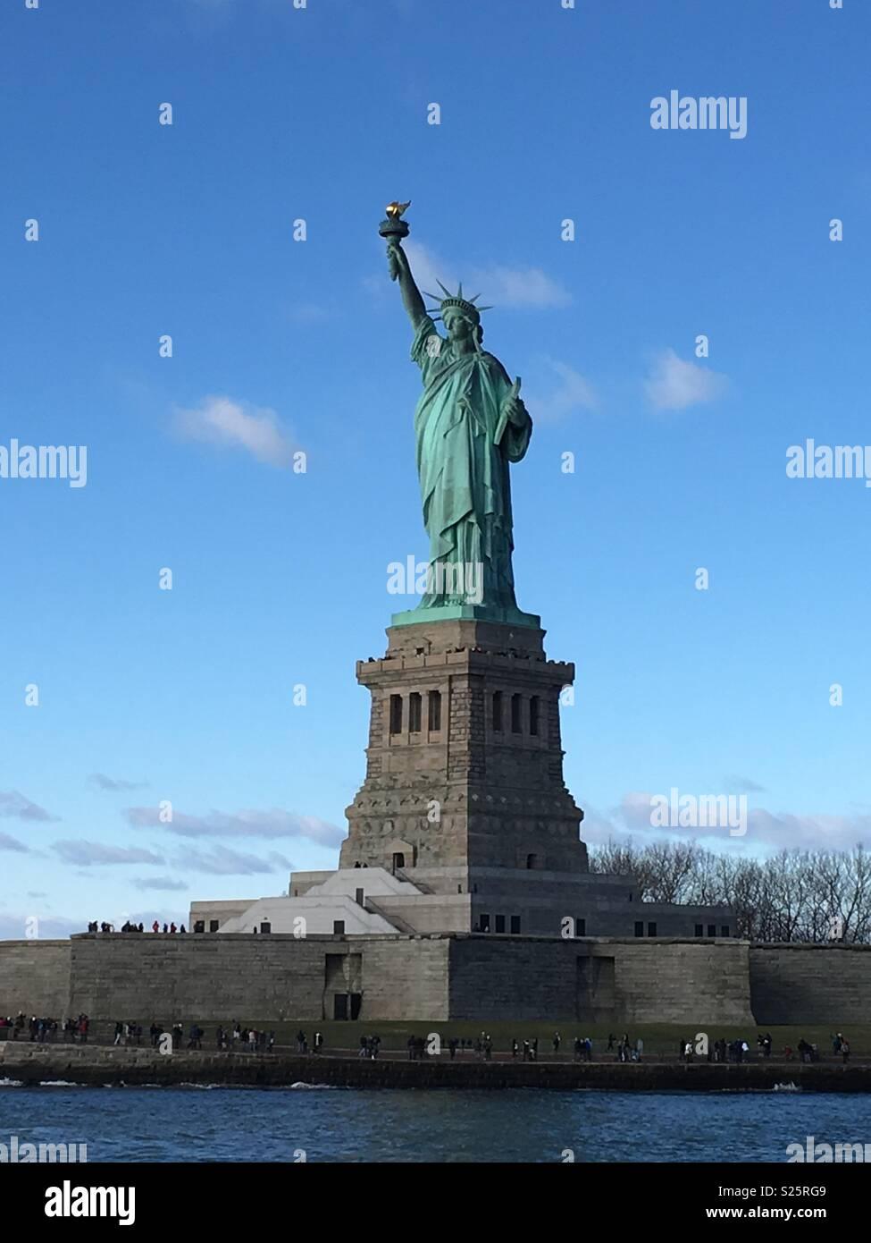 Freiheitsstatue Dezember Stockbild