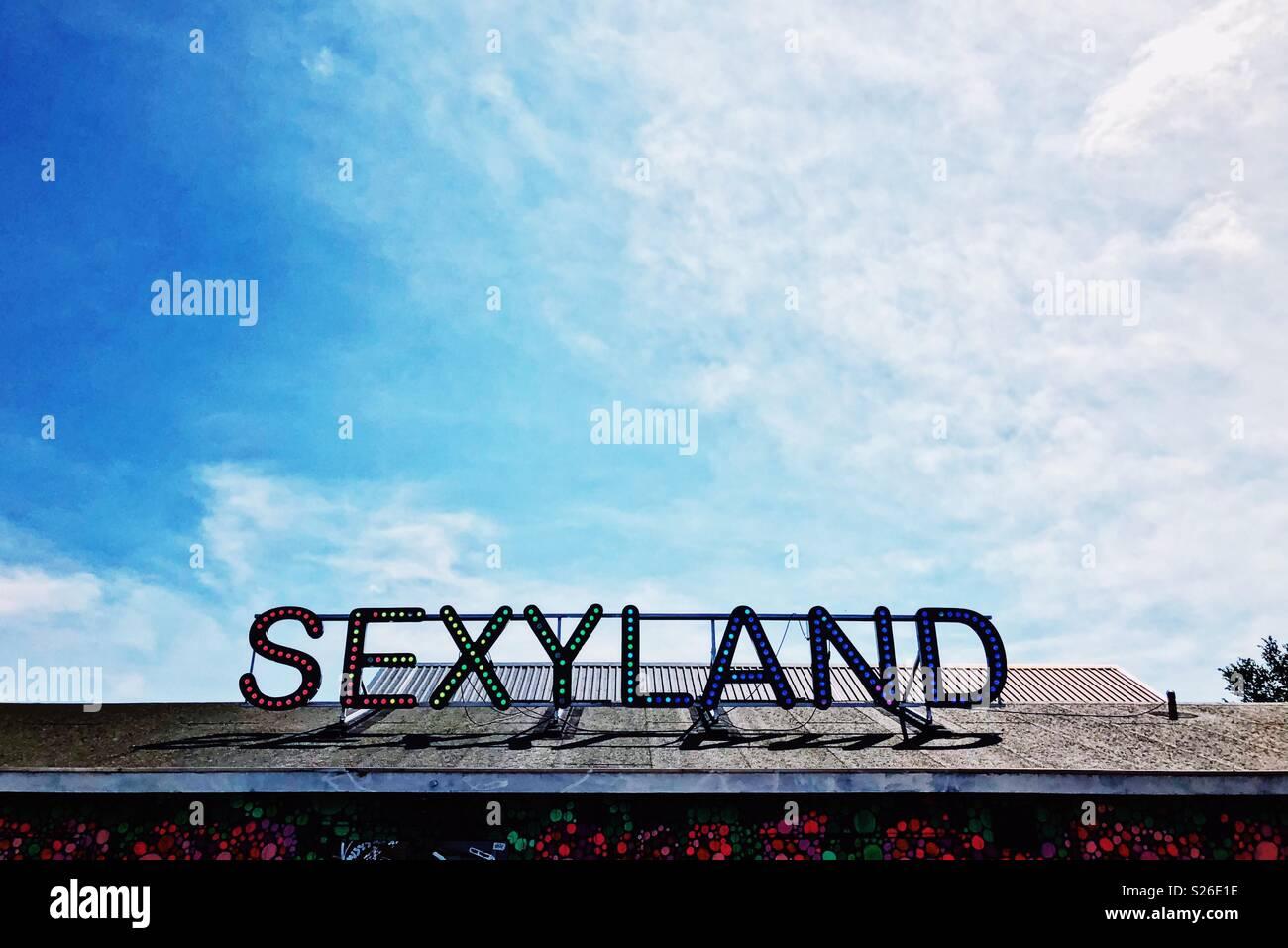 Sexyland Nachtclub/Veranstaltungsort auf der NDSM-Werft, Amsterdam Stockbild