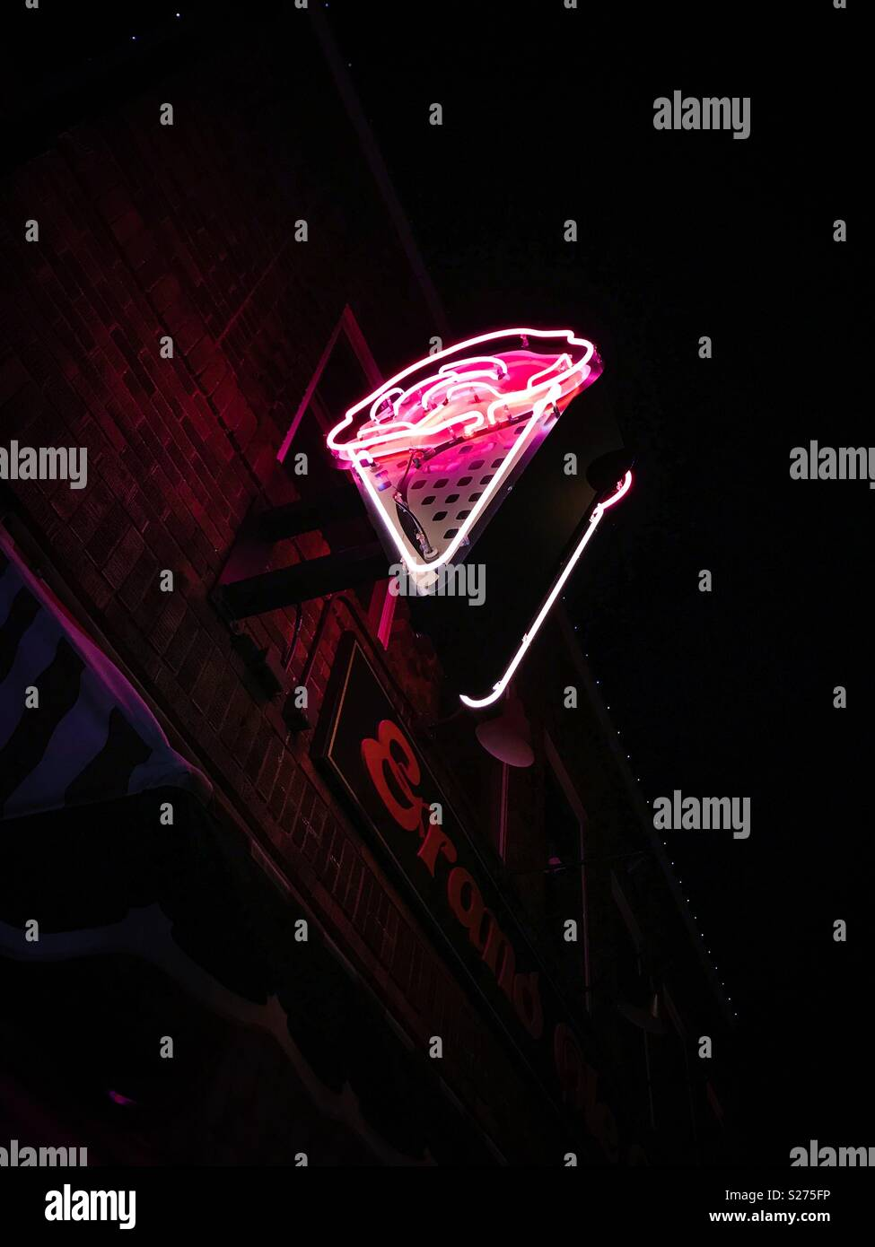 Neon Eis Stockbild
