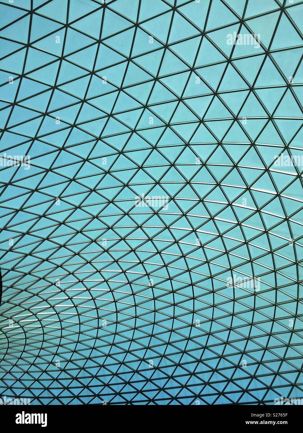 Geometrische Oberlicht im Dach Raster Stockbild