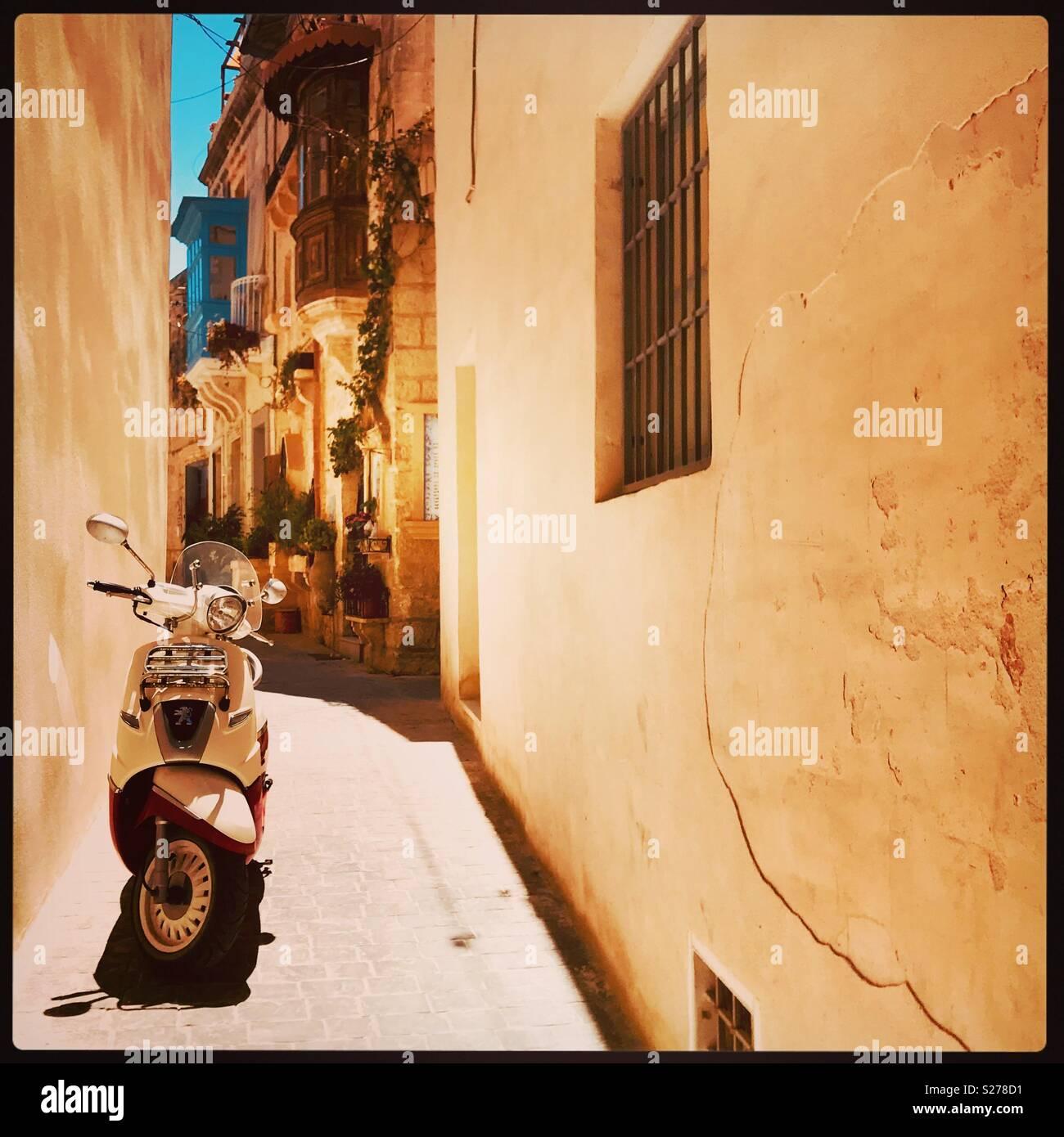 Gassen von Rabat, Malta Stockbild