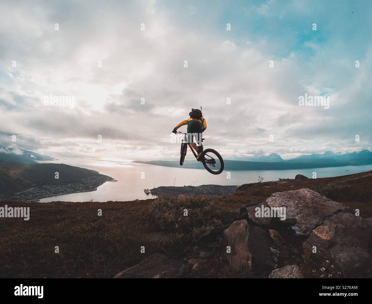 MTB-Norwegen Stockfoto