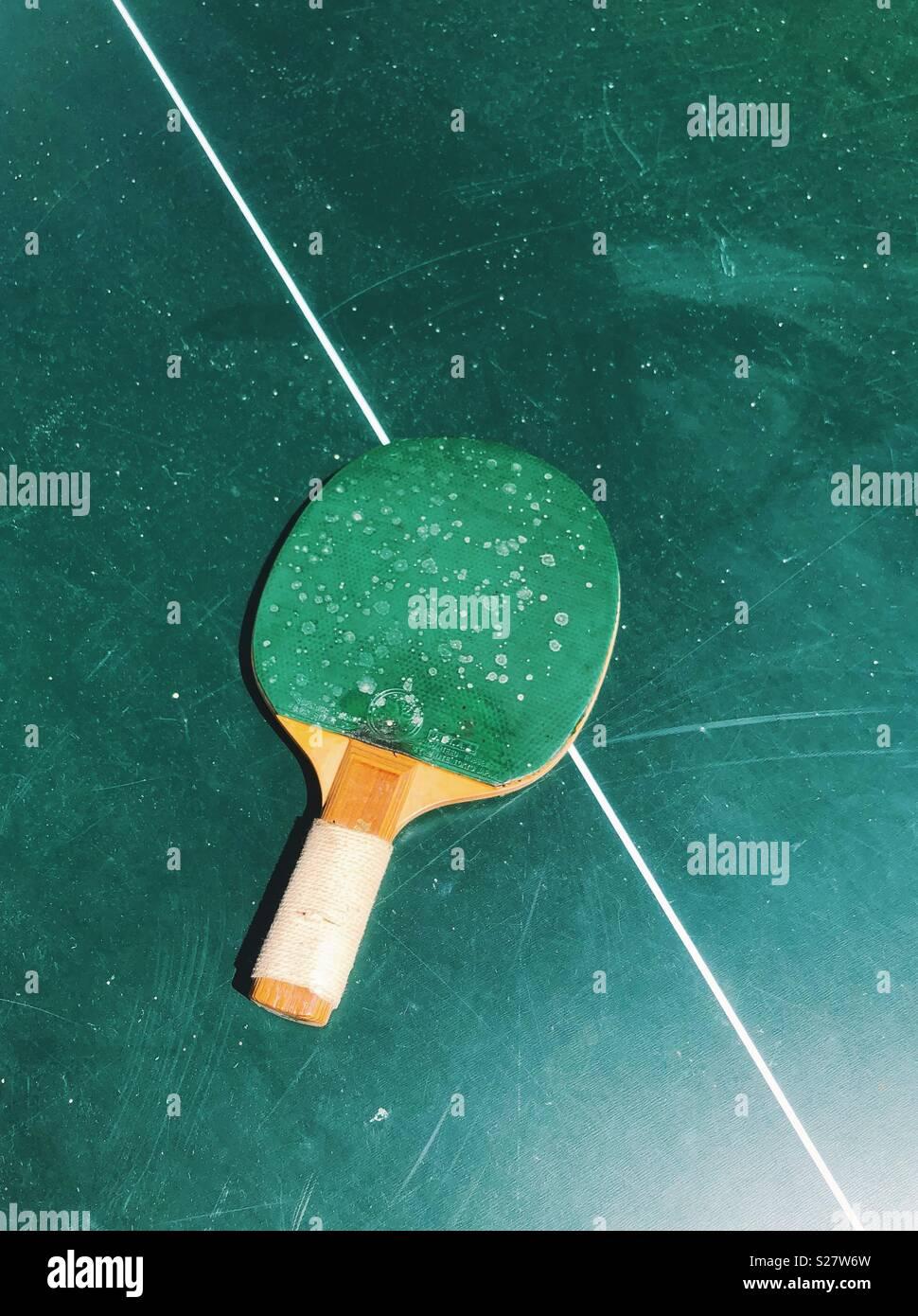 Vintage ping pong Stockbild
