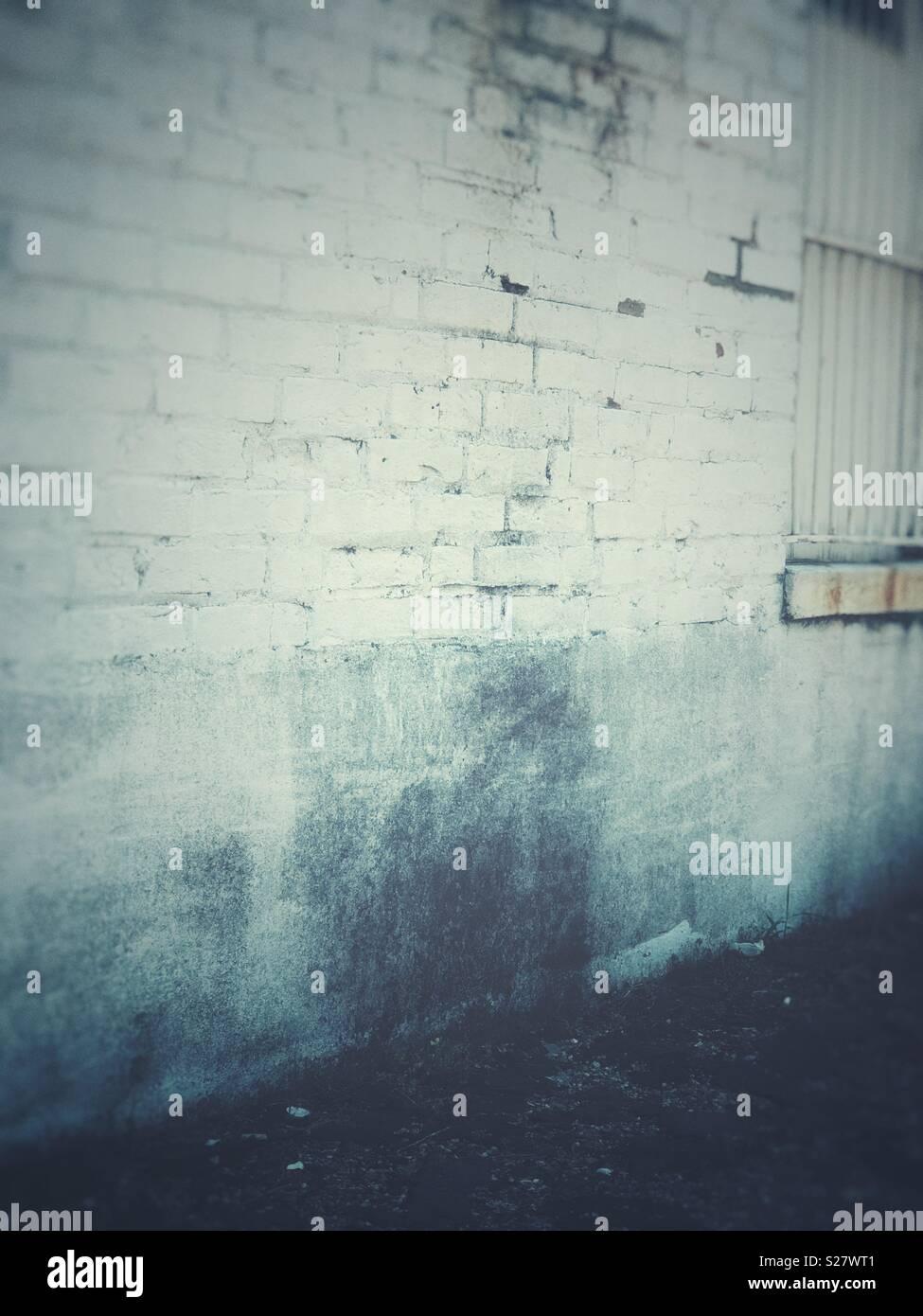 Rustikale Backsteinmauer Stockfoto