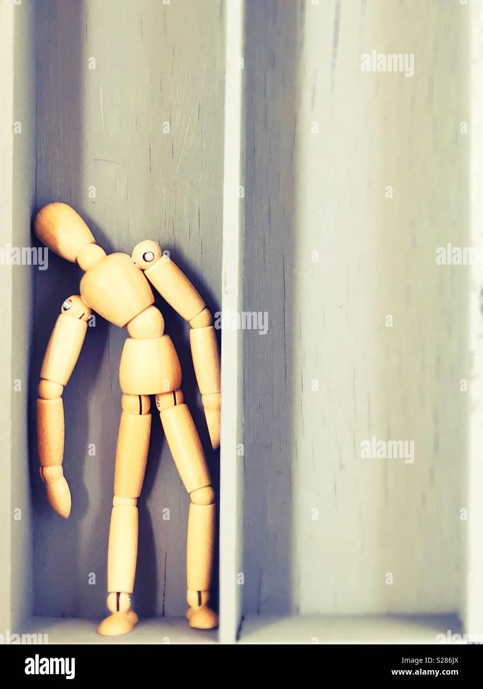 Konzeptionelle: Allein. Stockbild