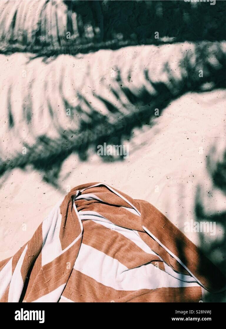 Abstract Am Strand Stockbild