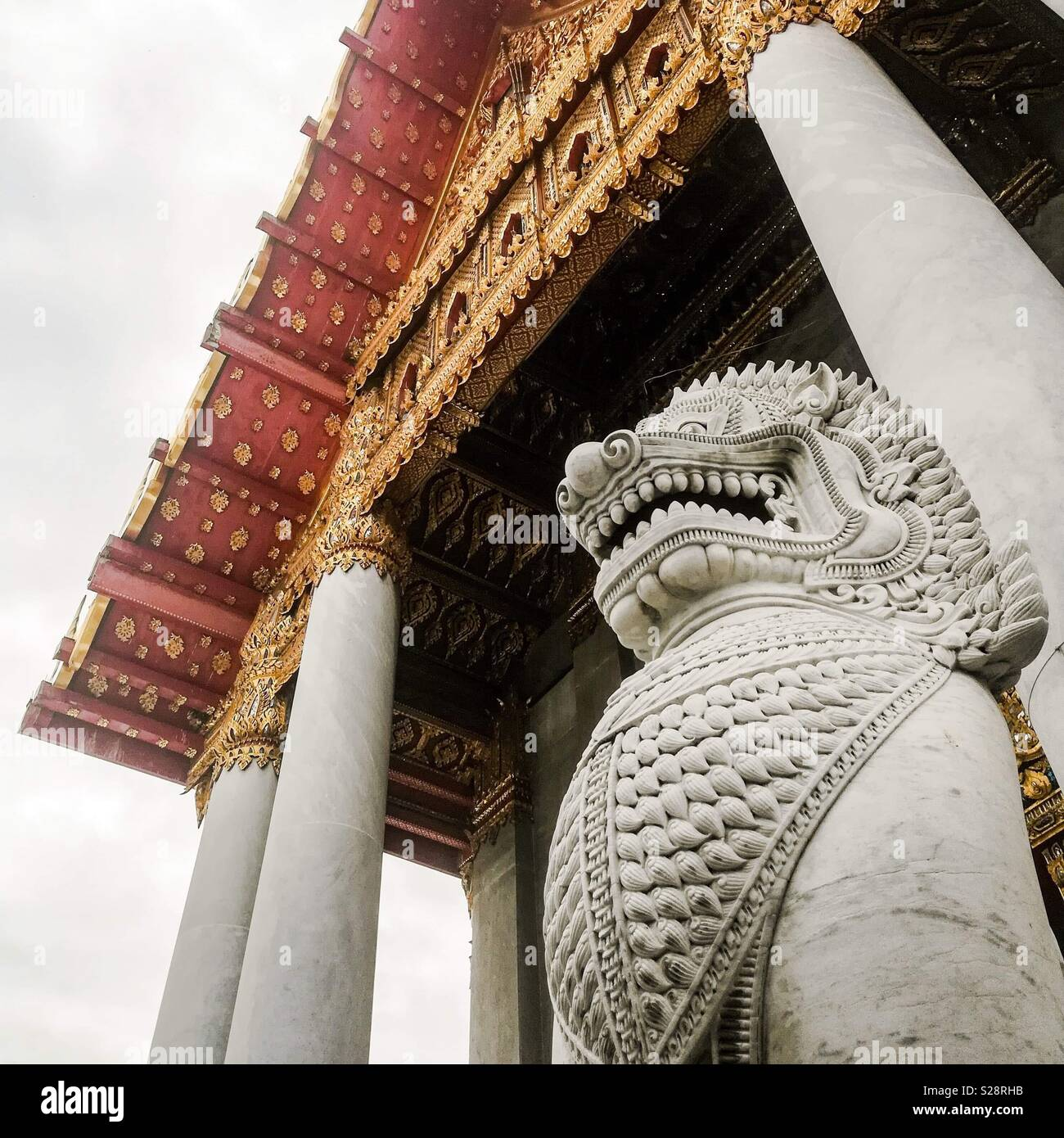 Der Marmor-tempel, Bangkok, Thailand Stockbild