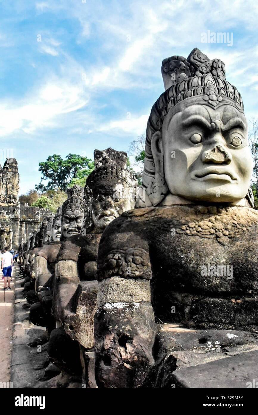 Statuen in Kambodscha Stockbild