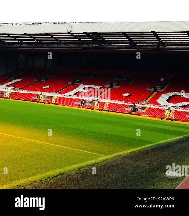 Liverpool F.C. Stadion Stockbild
