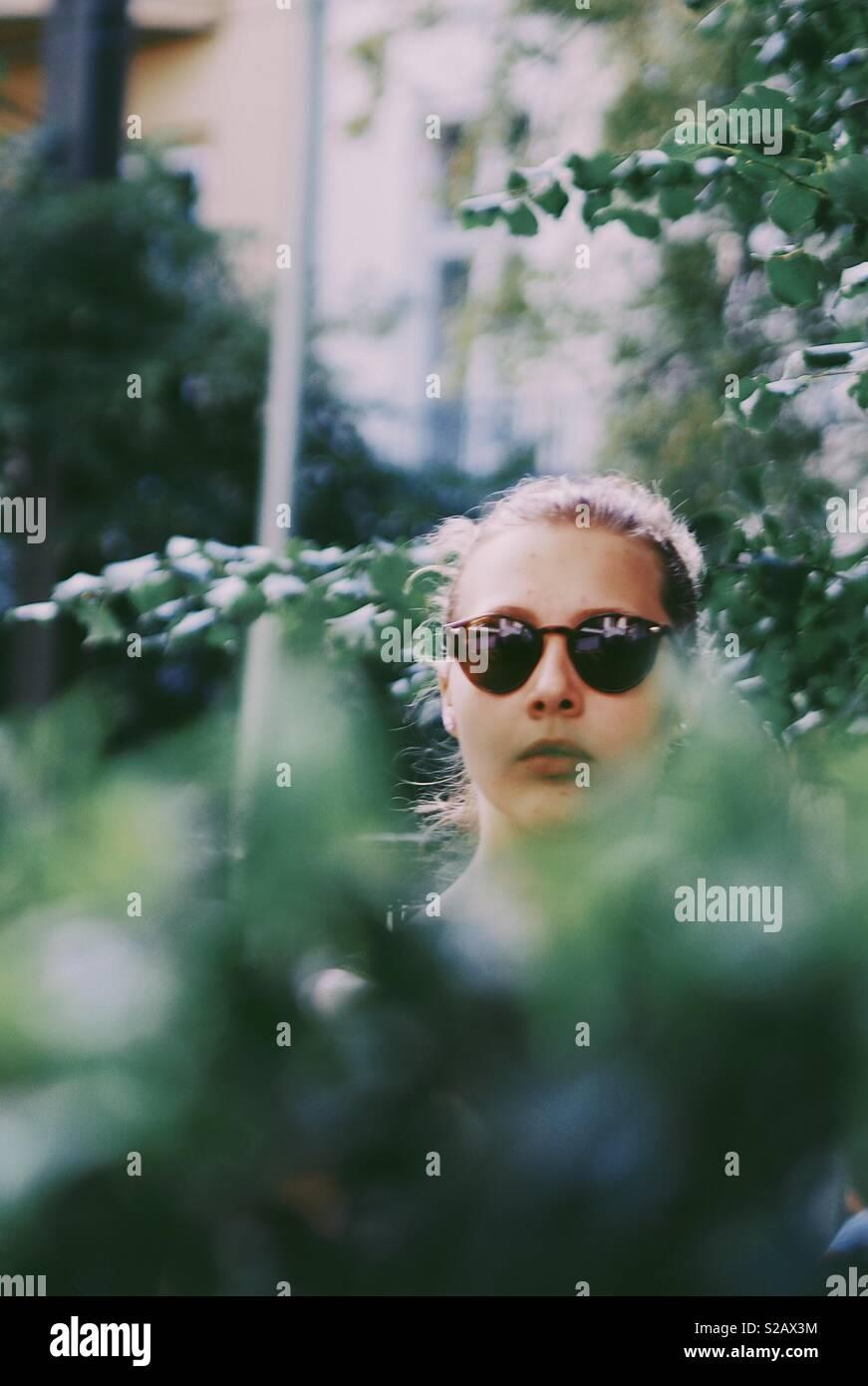 Städtische girl Stockbild