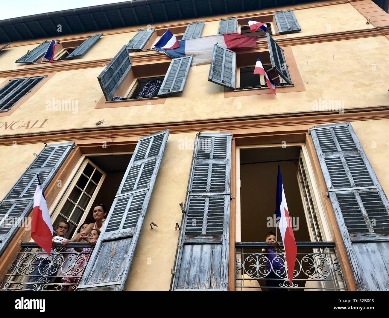 Tag der Bastille Valbonne Frankreich Stockbild