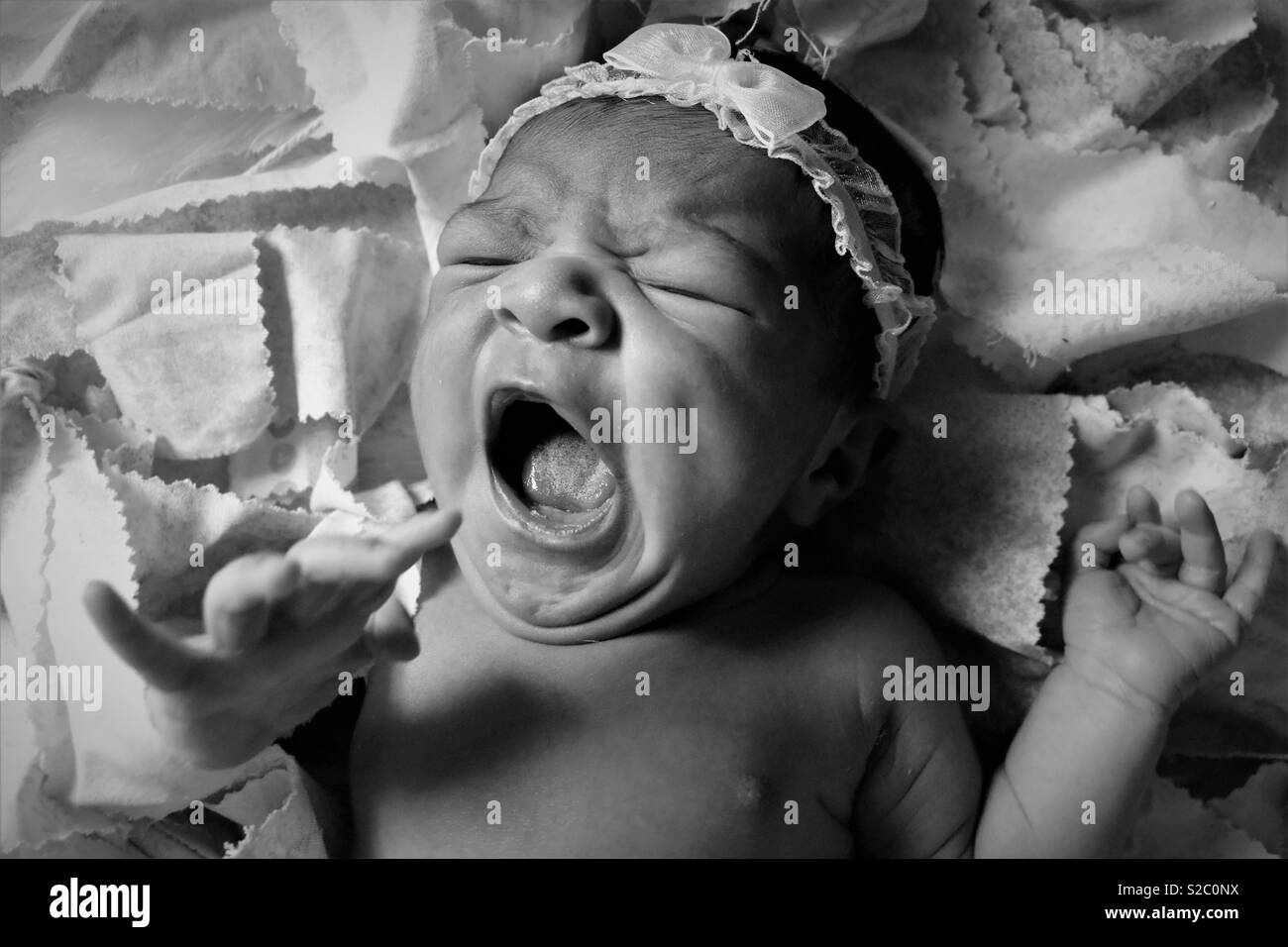 Sleepy baby Stockbild