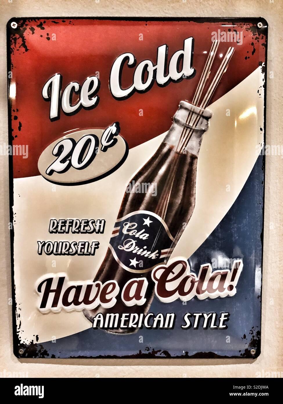 Nostalgische Poster. Stockbild