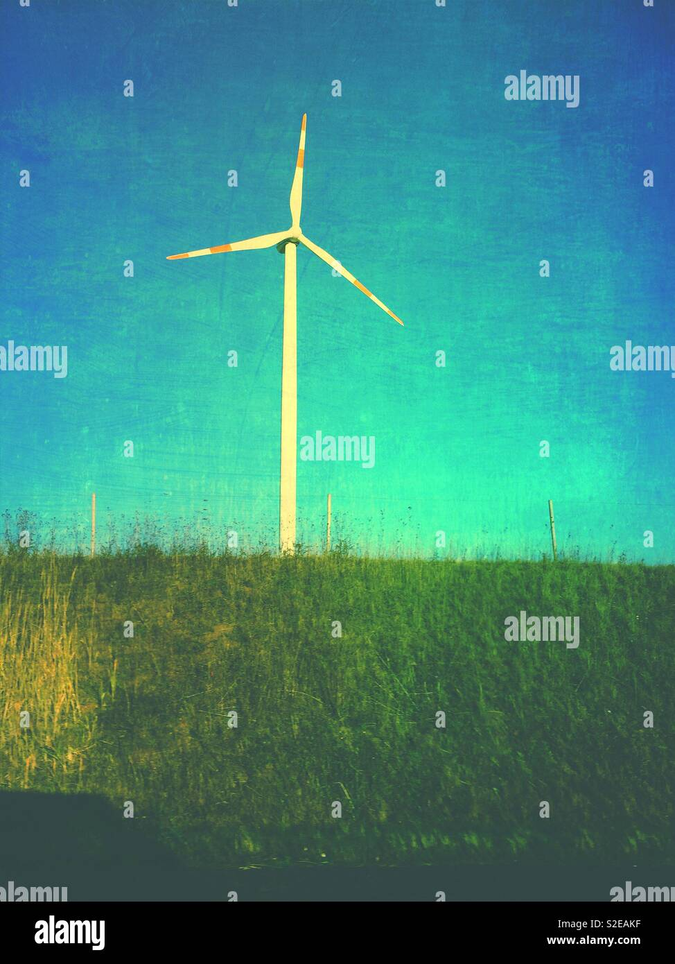 Windenergieanlage in Mecklenburg Vorpommern Deutschland Stockbild