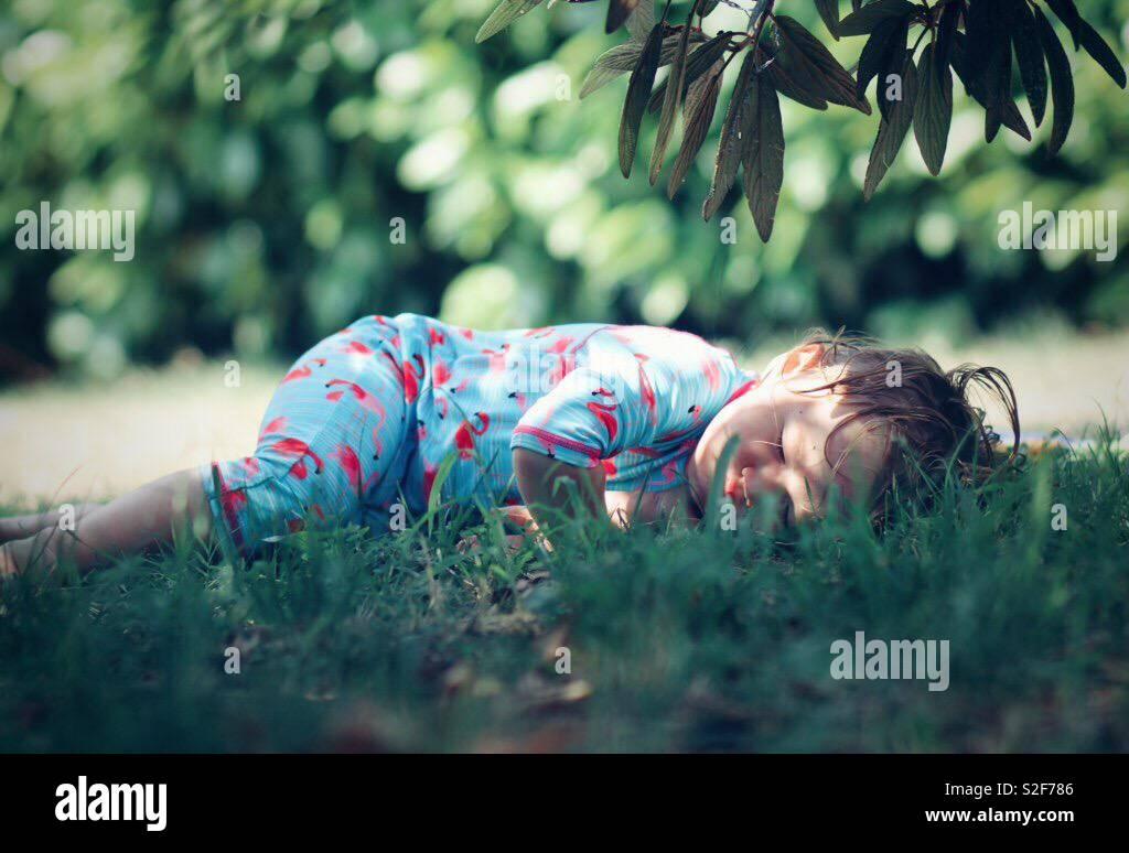 Schlafen mit der Natur Stockfoto
