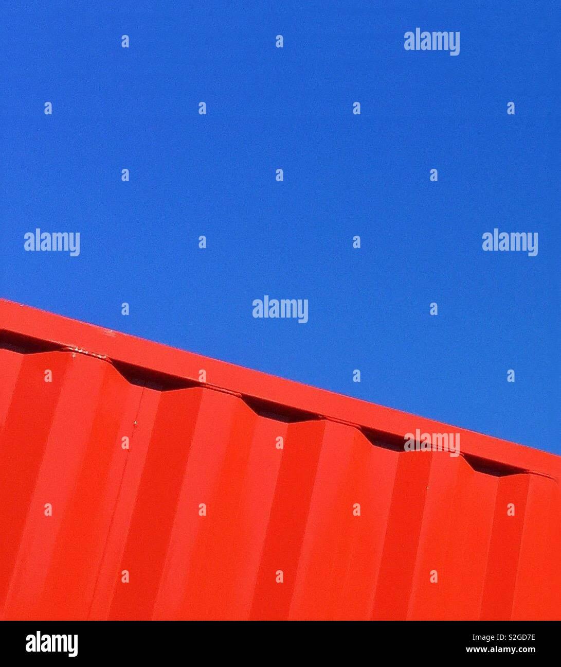 Abstrakt rot und blau Stockfoto