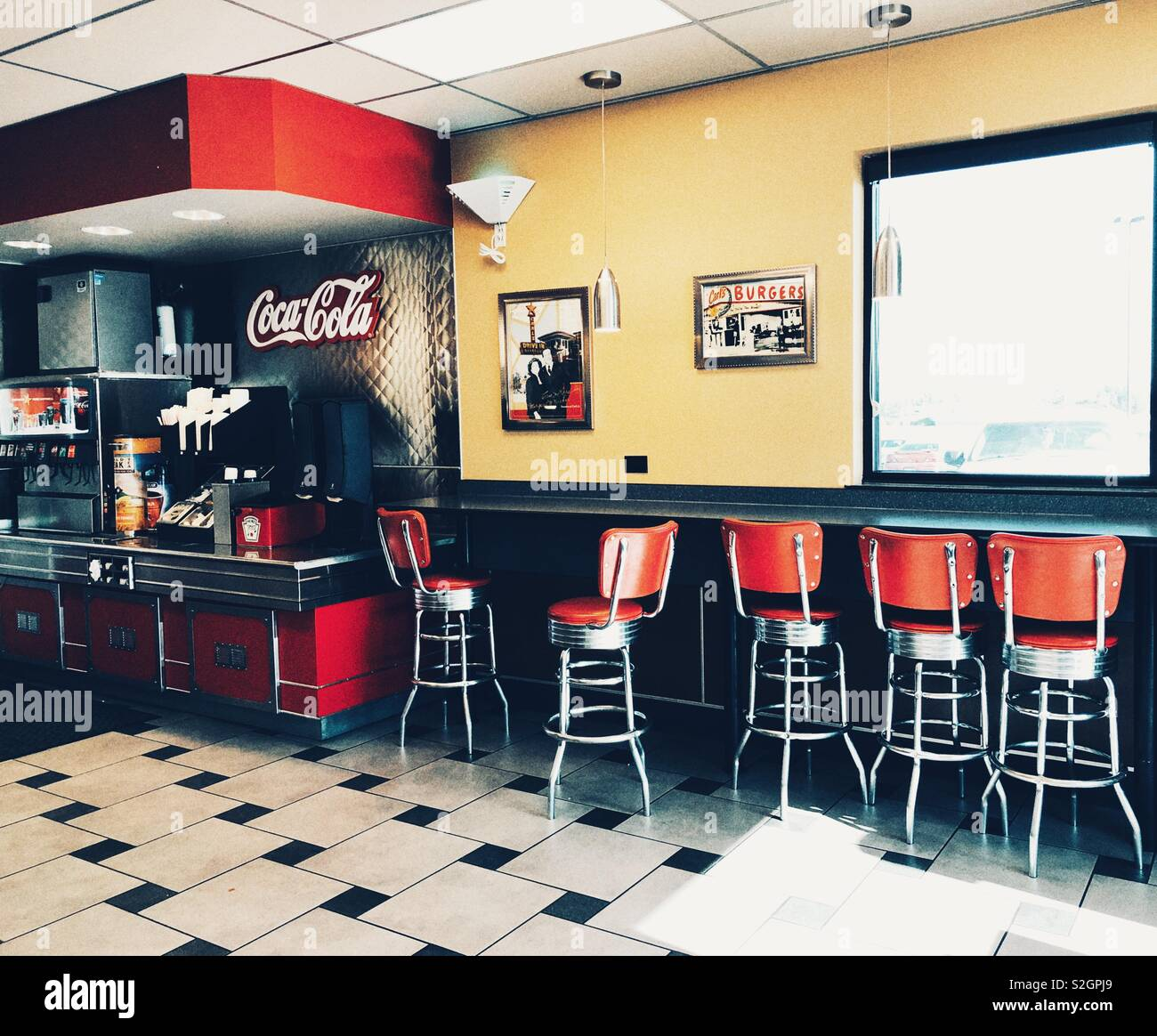 Roadside Diner in Amerika Stockbild