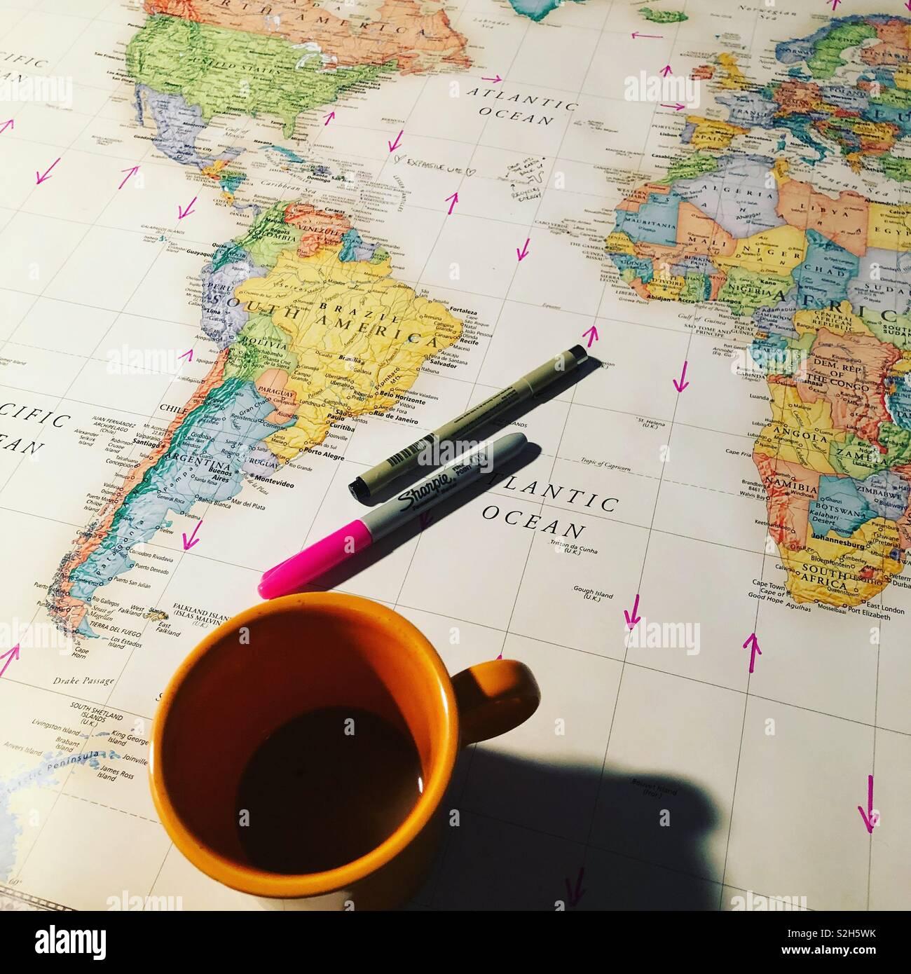 Reiseplanung Stockbild